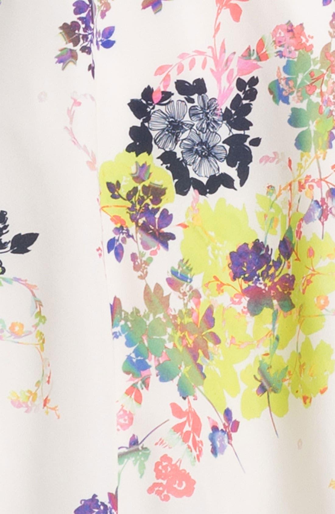 Print Fit & Flare Dress,                             Alternate thumbnail 2, color,                             900