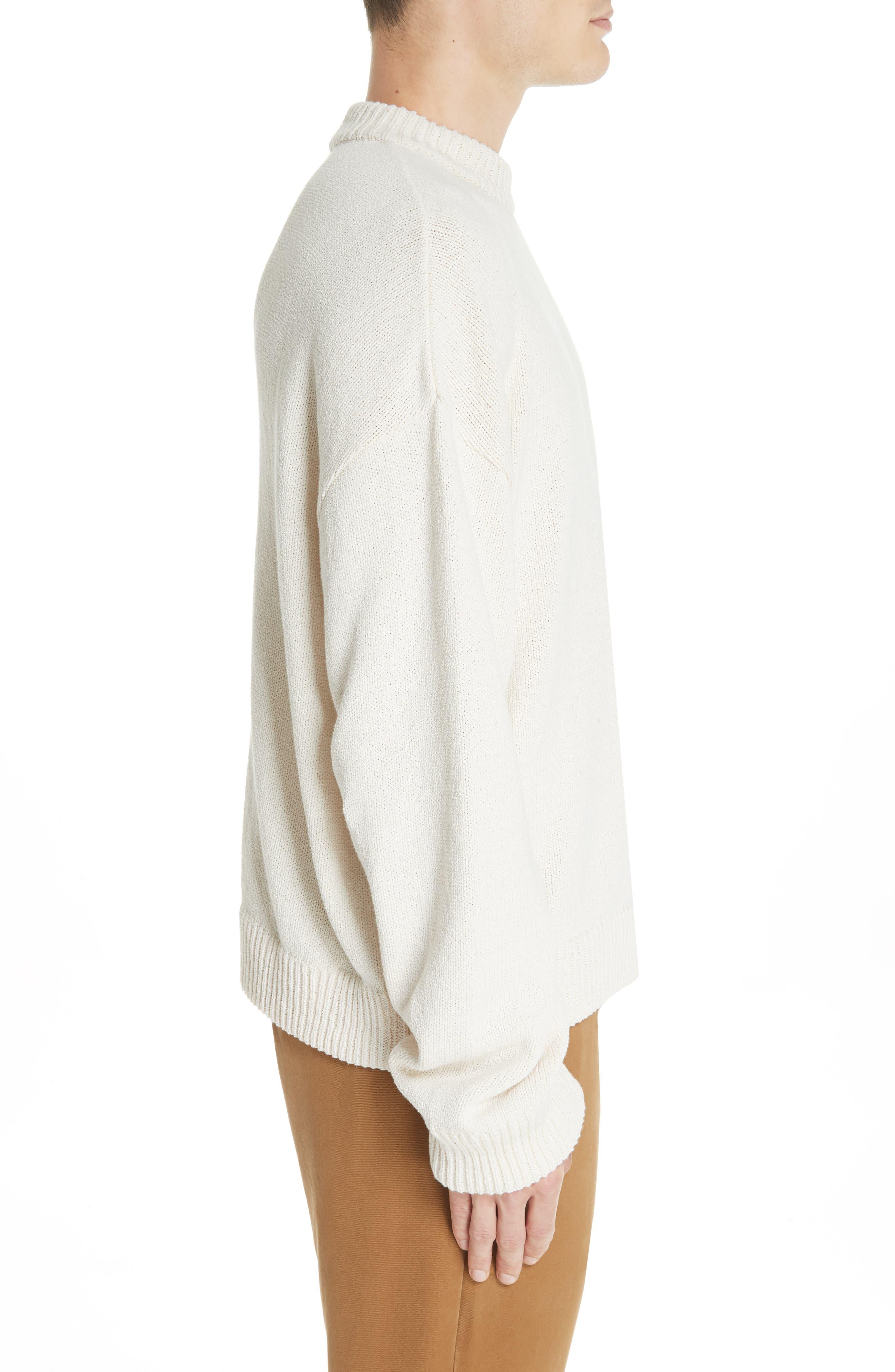 Somar Oversized Crewneck Sweater,                             Alternate thumbnail 3, color,                             100