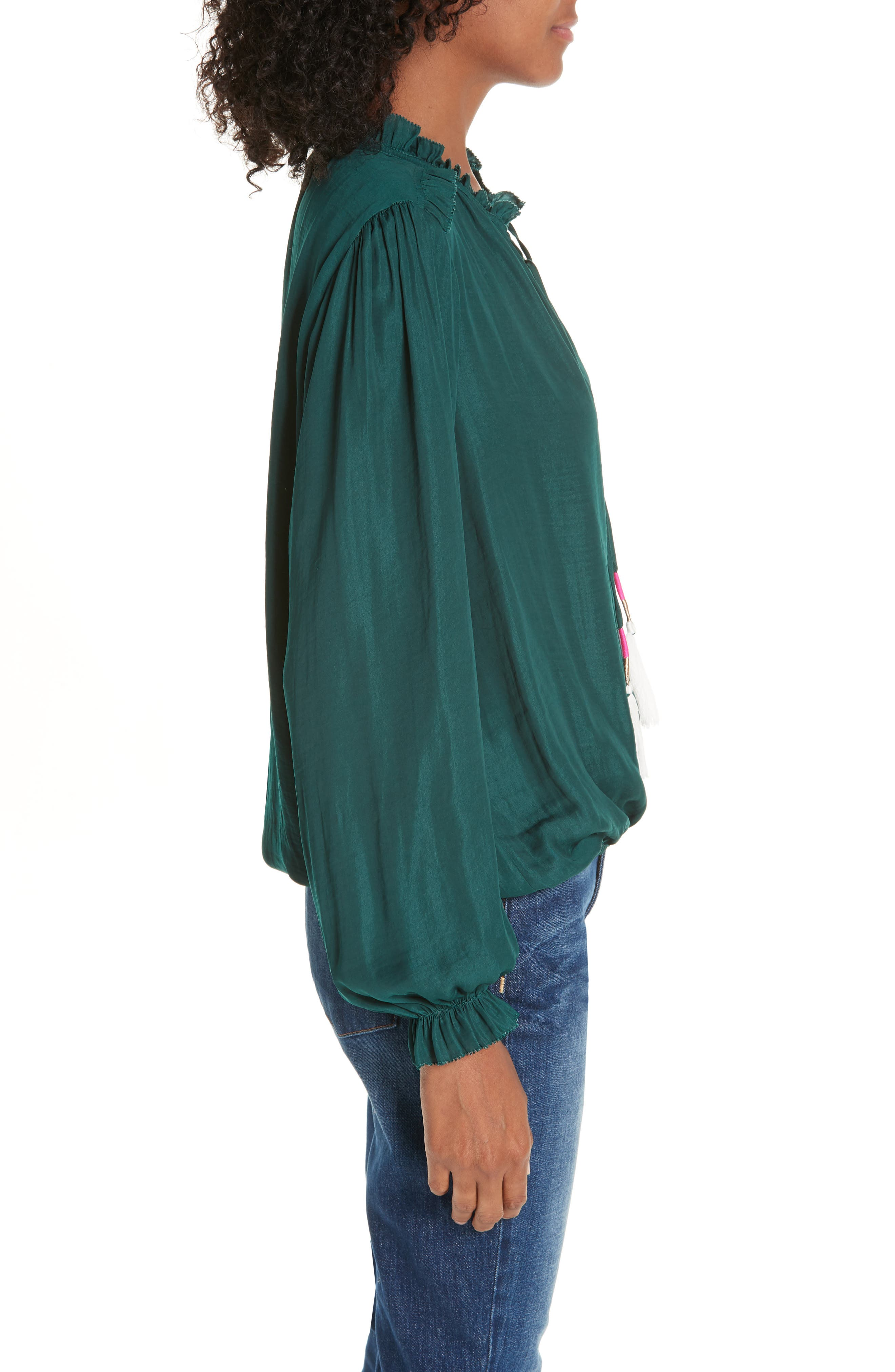 Cinched Hem Blouse,                             Alternate thumbnail 3, color,                             305