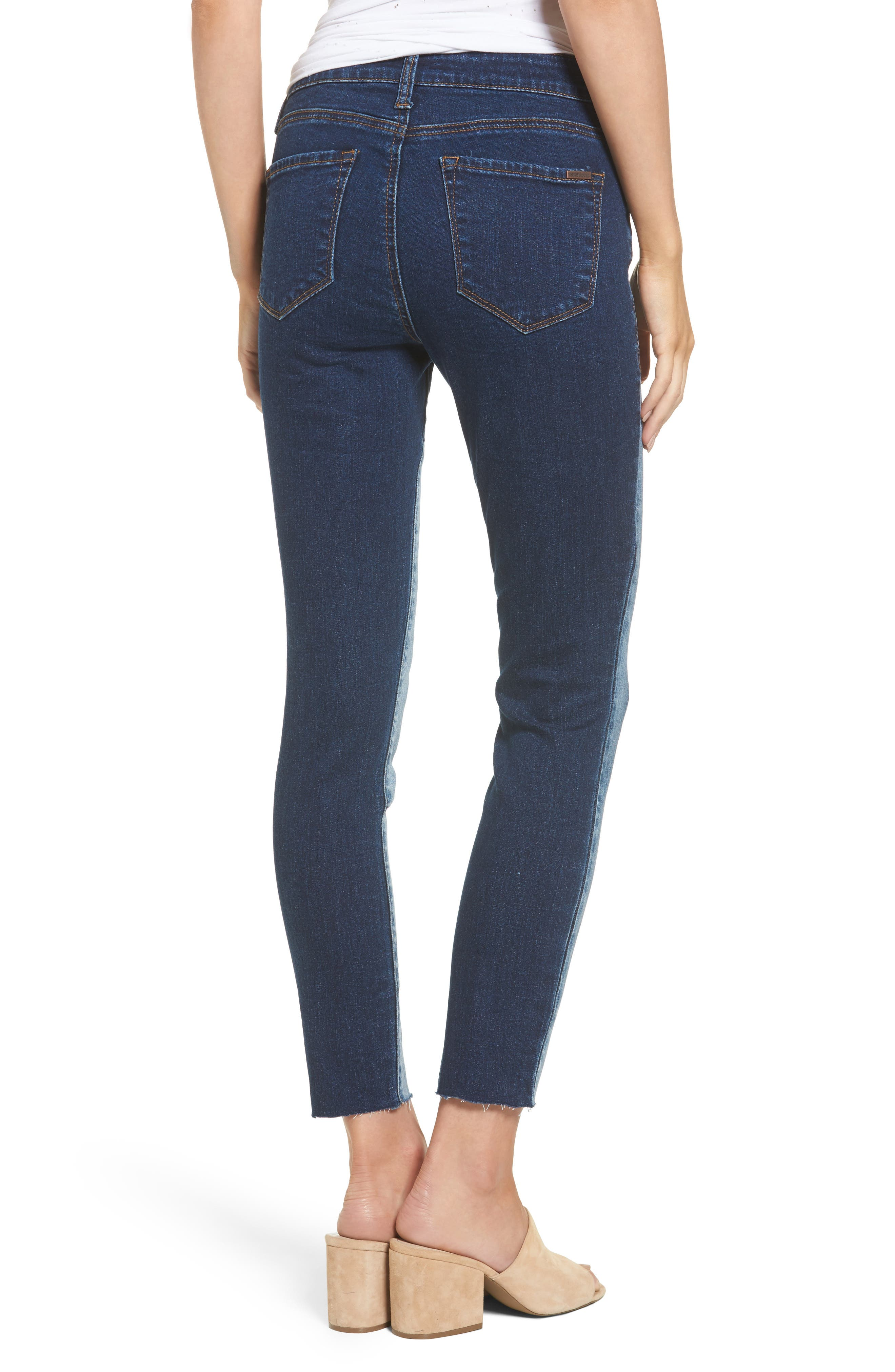 Piper Colorblock Ankle Skinny Jeans,                             Alternate thumbnail 2, color,                             400