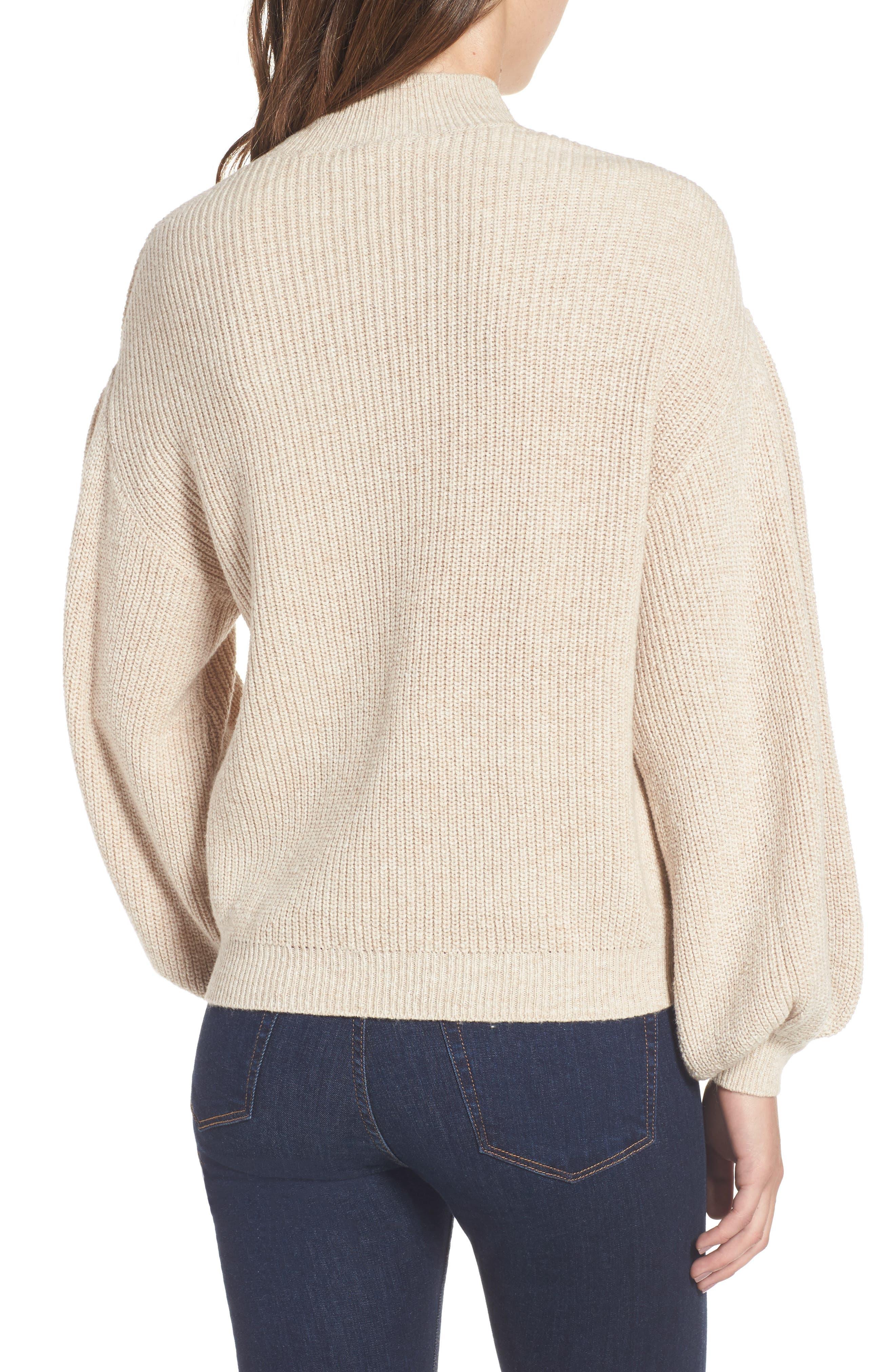 Blouson Sleeve Sweater,                             Alternate thumbnail 8, color,