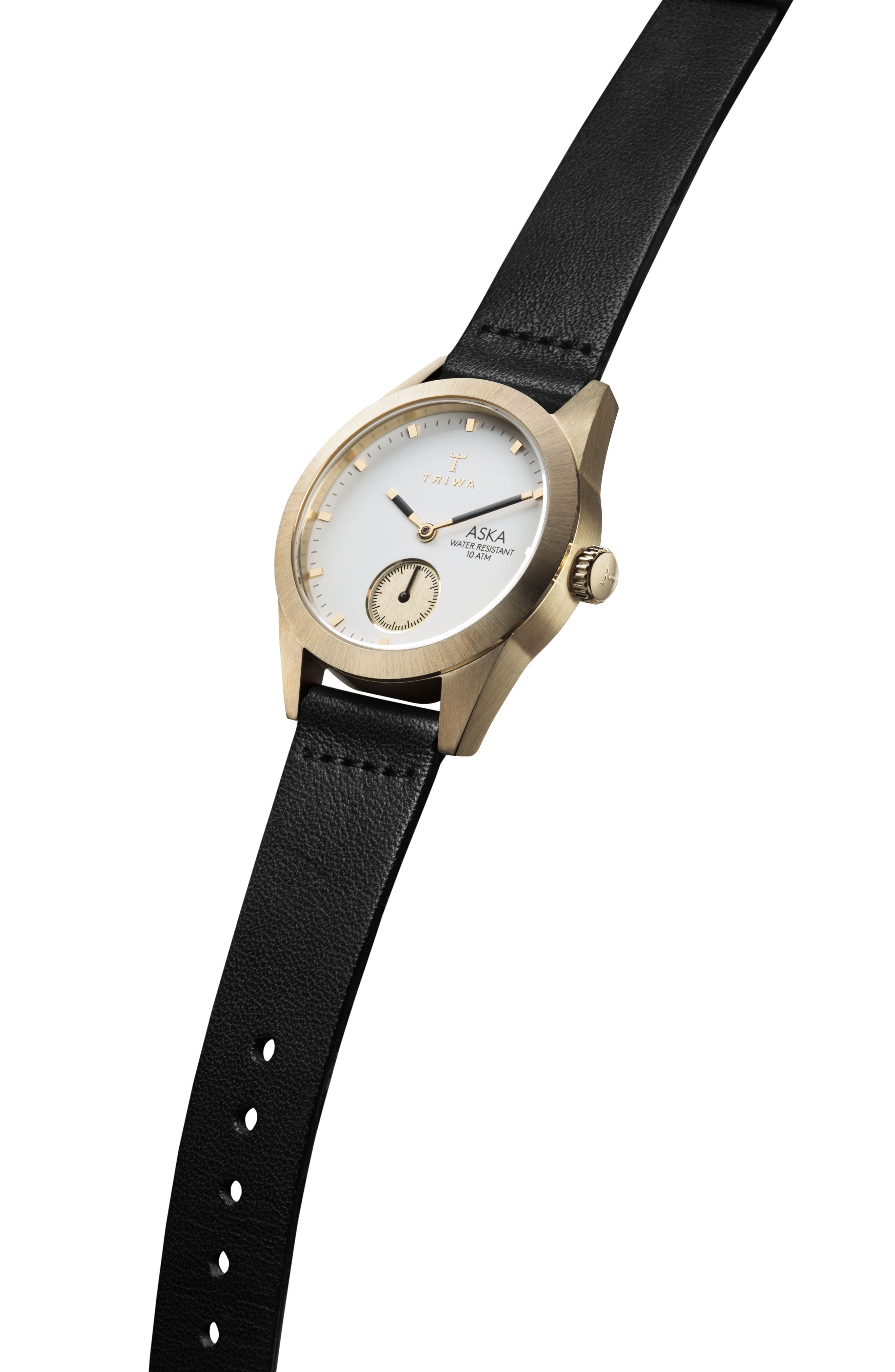 Ivory Aska Leather Strap Watch, 32mm,                             Alternate thumbnail 4, color,