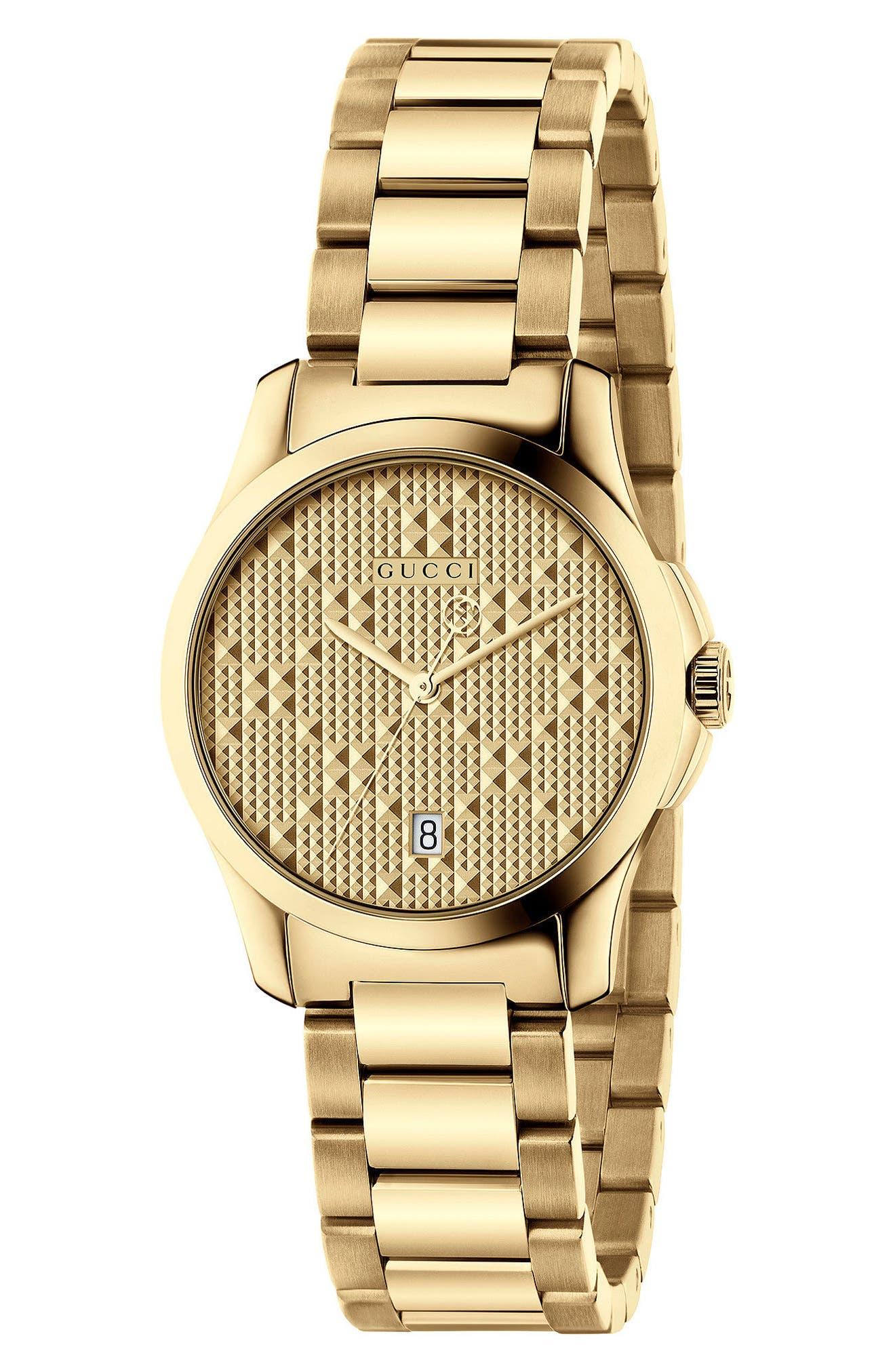 G-Timeless Bracelet Watch, 27mm,                         Main,                         color, GOLD
