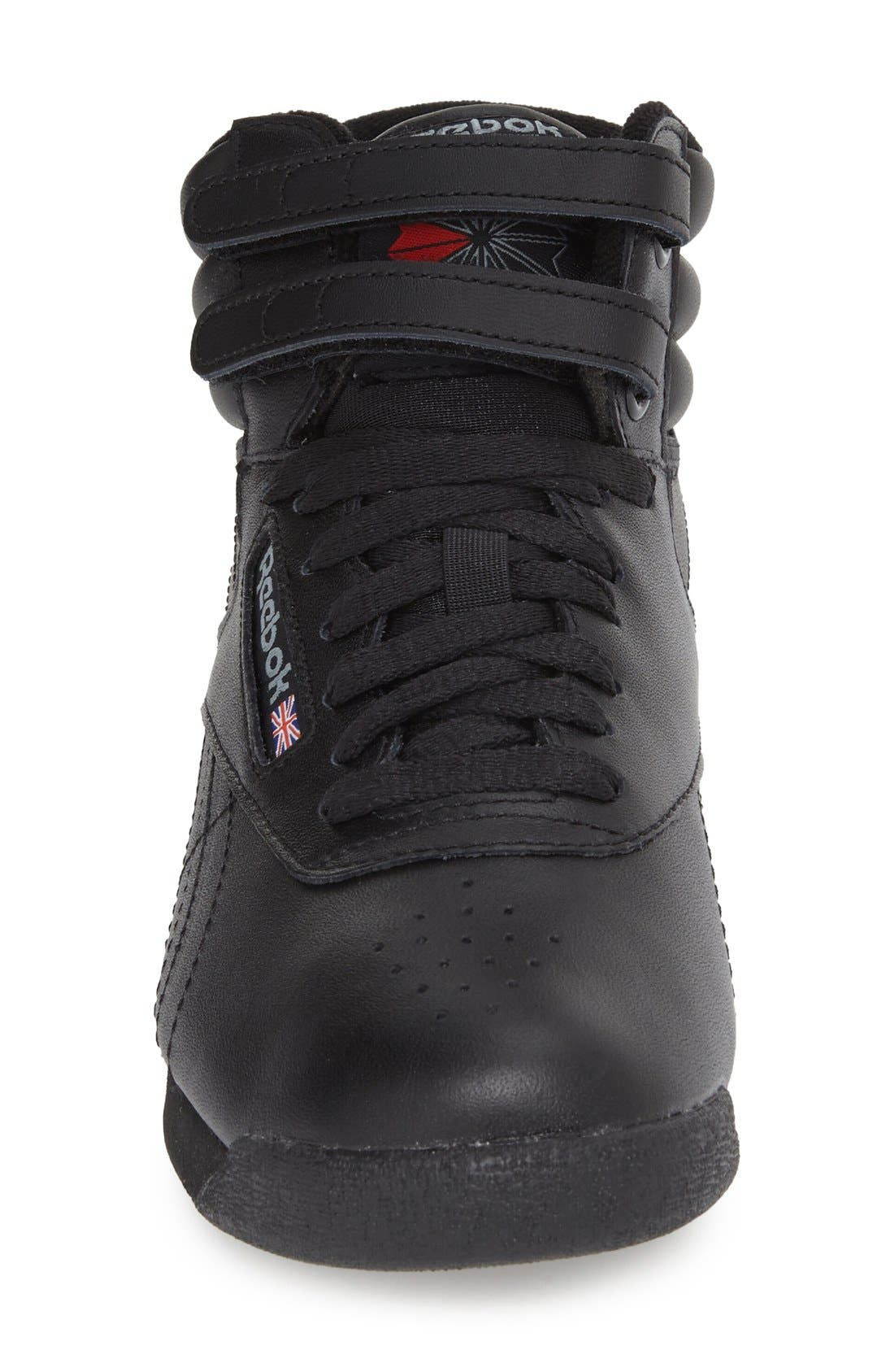 'Freestyle Hi' Sneaker,                             Alternate thumbnail 3, color,                             BLACK