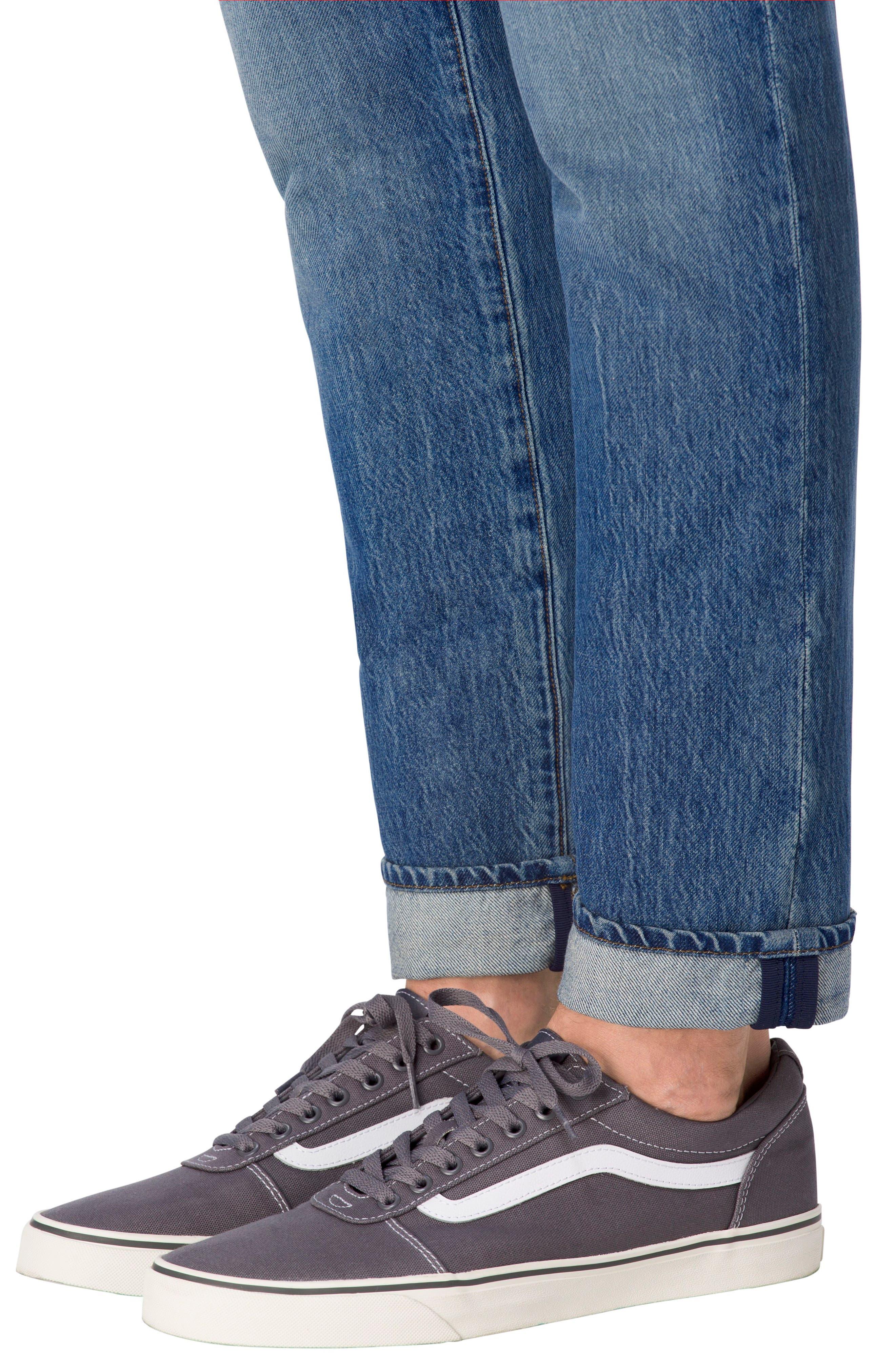 Tyler Slim Fit Jeans,                             Alternate thumbnail 4, color,                             451