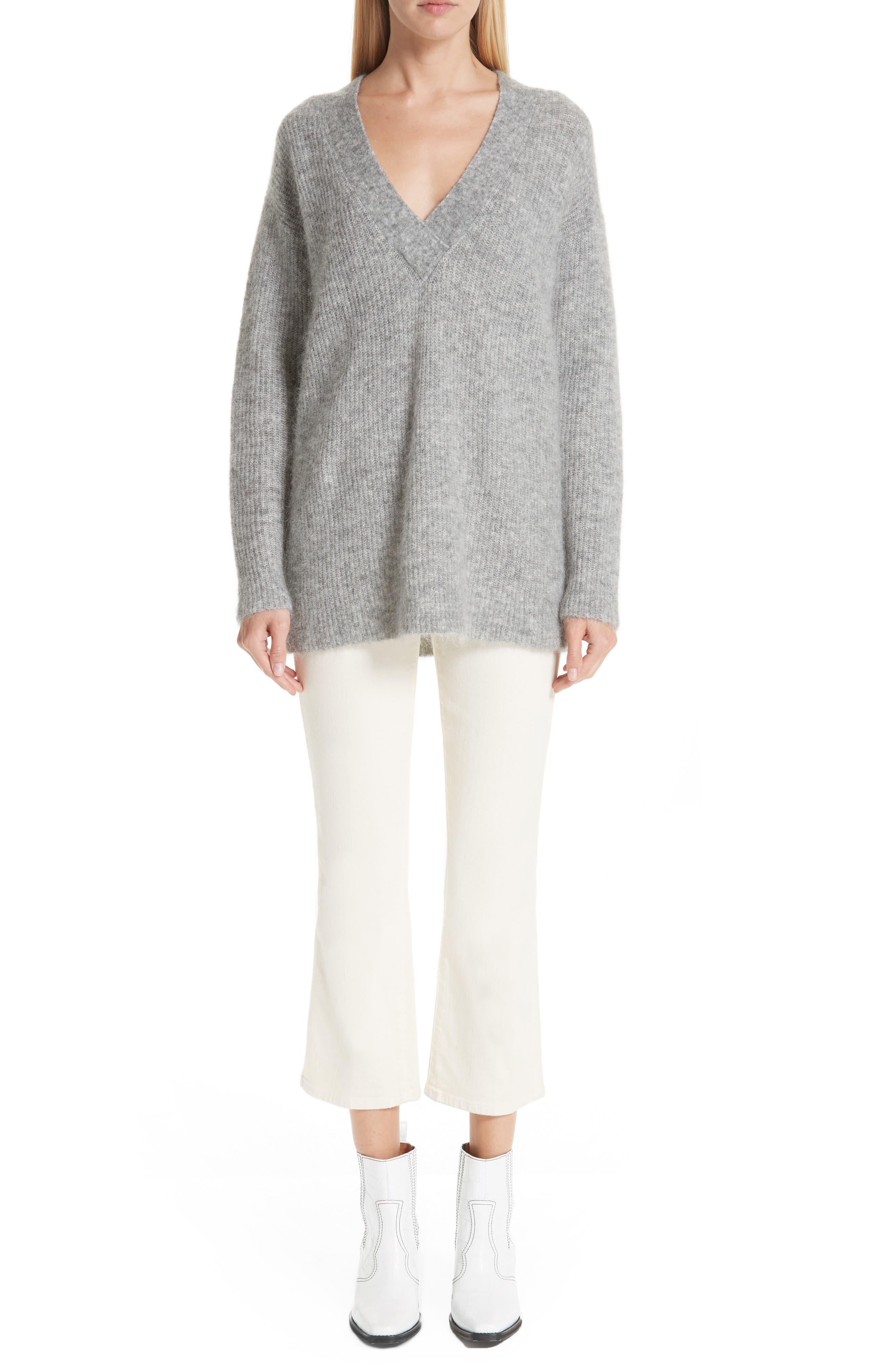 Soft Mohair Blend Knit Sweater,                             Alternate thumbnail 7, color,                             PALOMA MELANGE 921