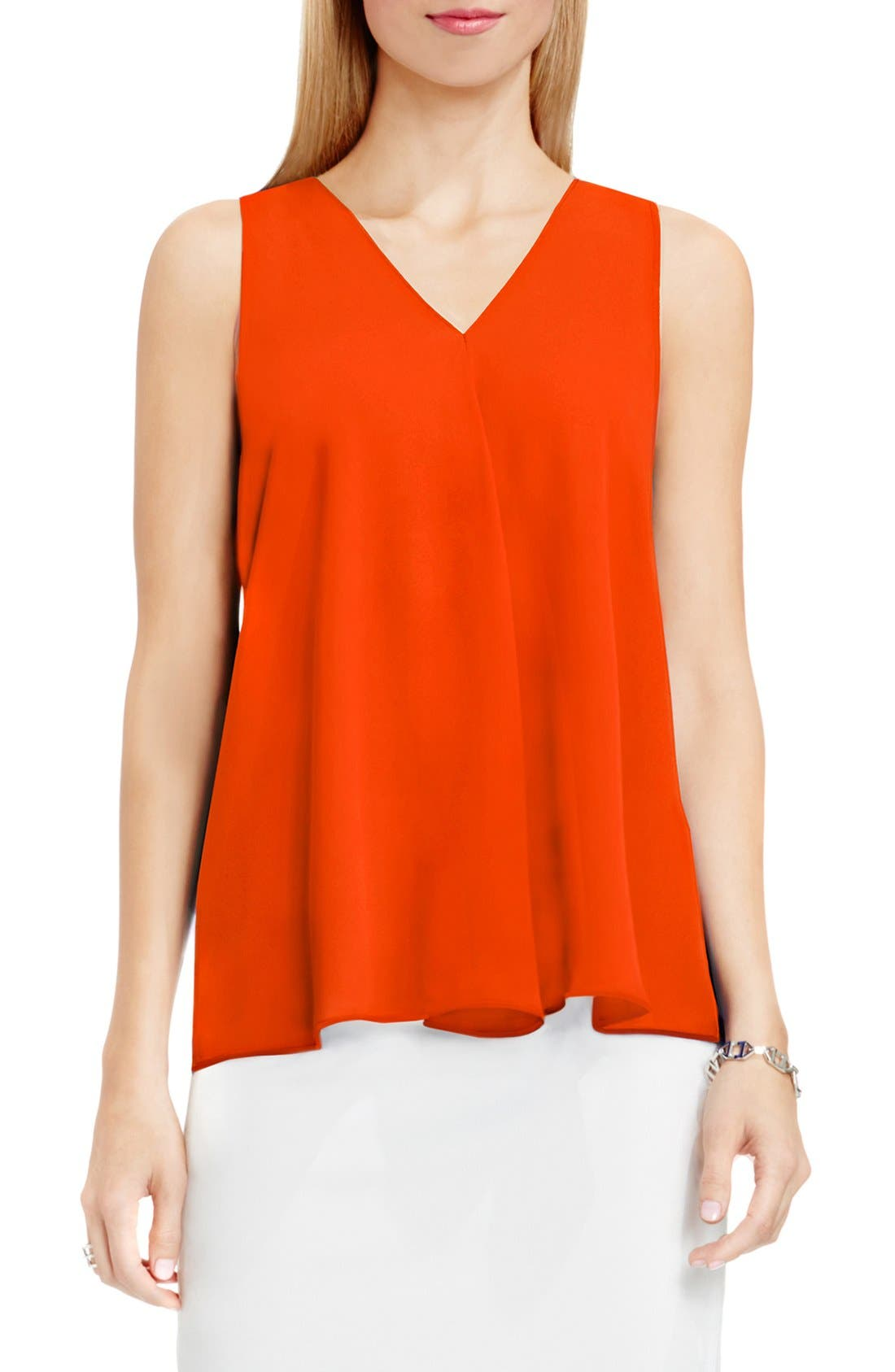 Drape Front V-Neck Sleeveless Blouse,                             Main thumbnail 30, color,