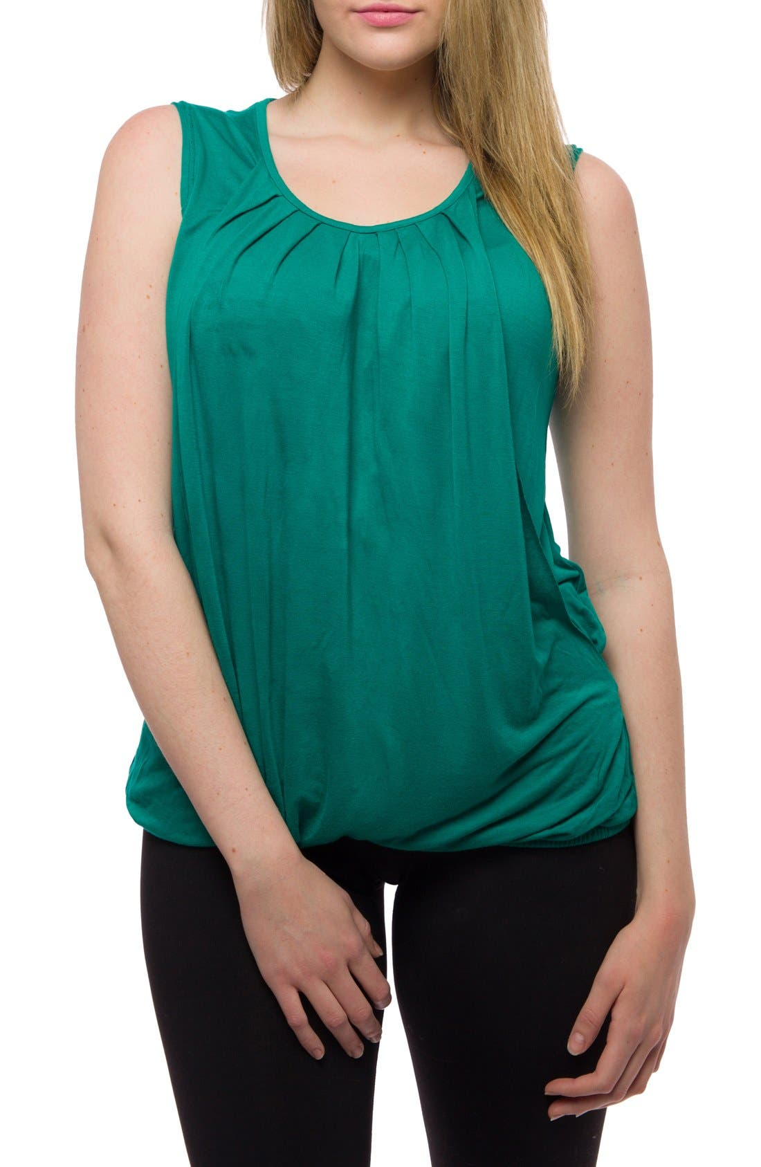 Pleated Sleeveless Nursing Top,                             Alternate thumbnail 2, color,                             320