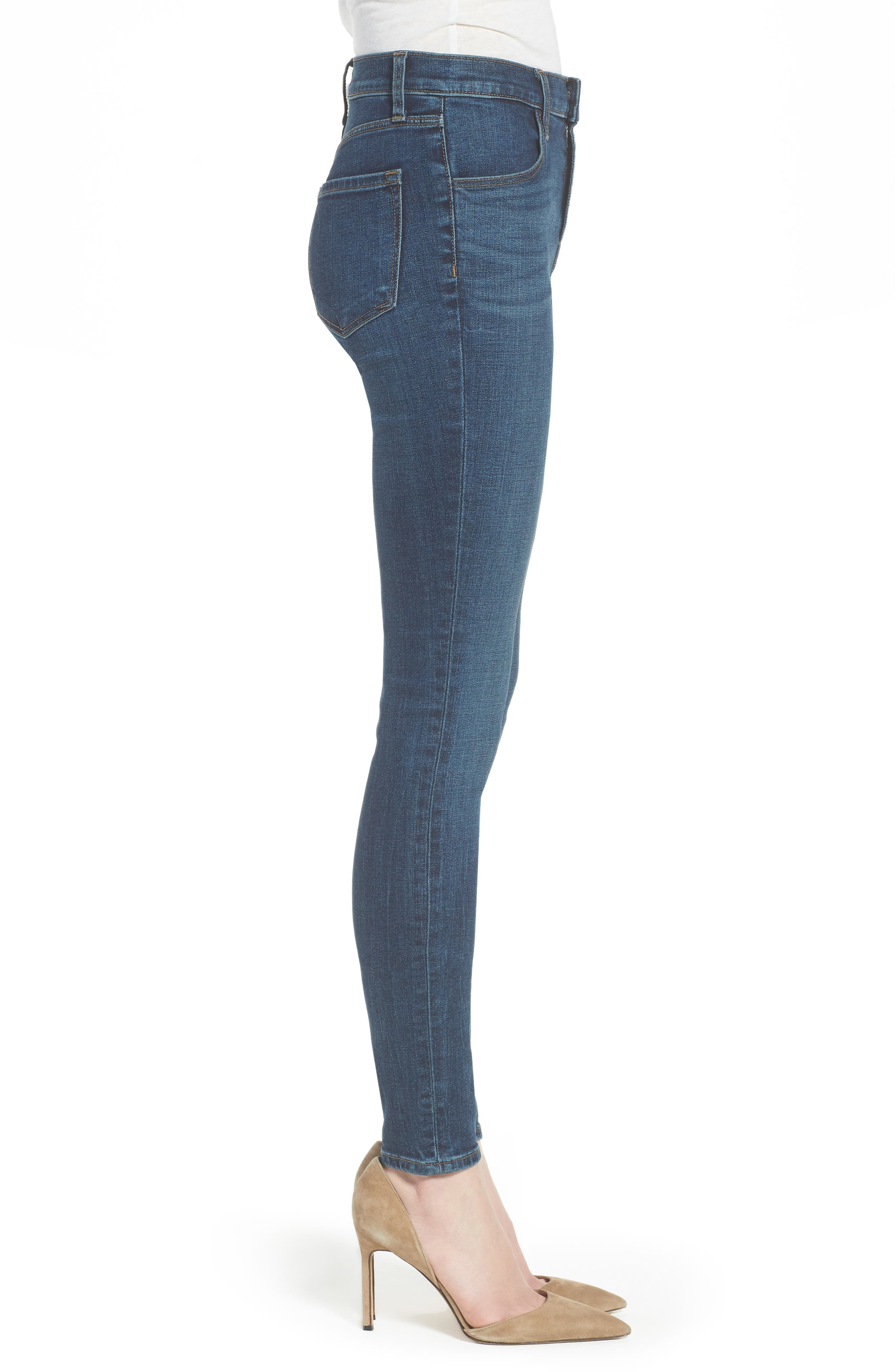 Maria High Waist Skinny Jeans,                             Alternate thumbnail 3, color,                             REVIVAL