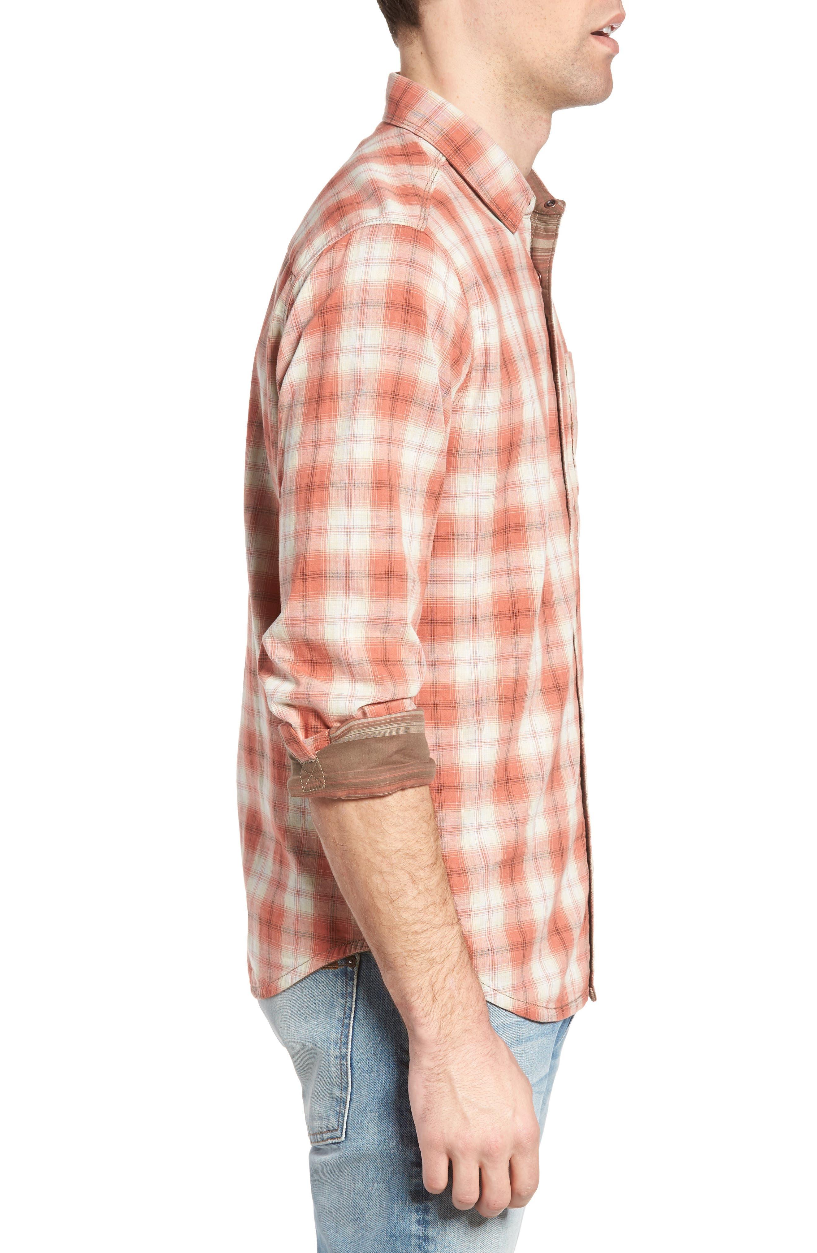 Vogel Regular Fit Reversible Plaid Sport Shirt,                             Alternate thumbnail 3, color,                             201