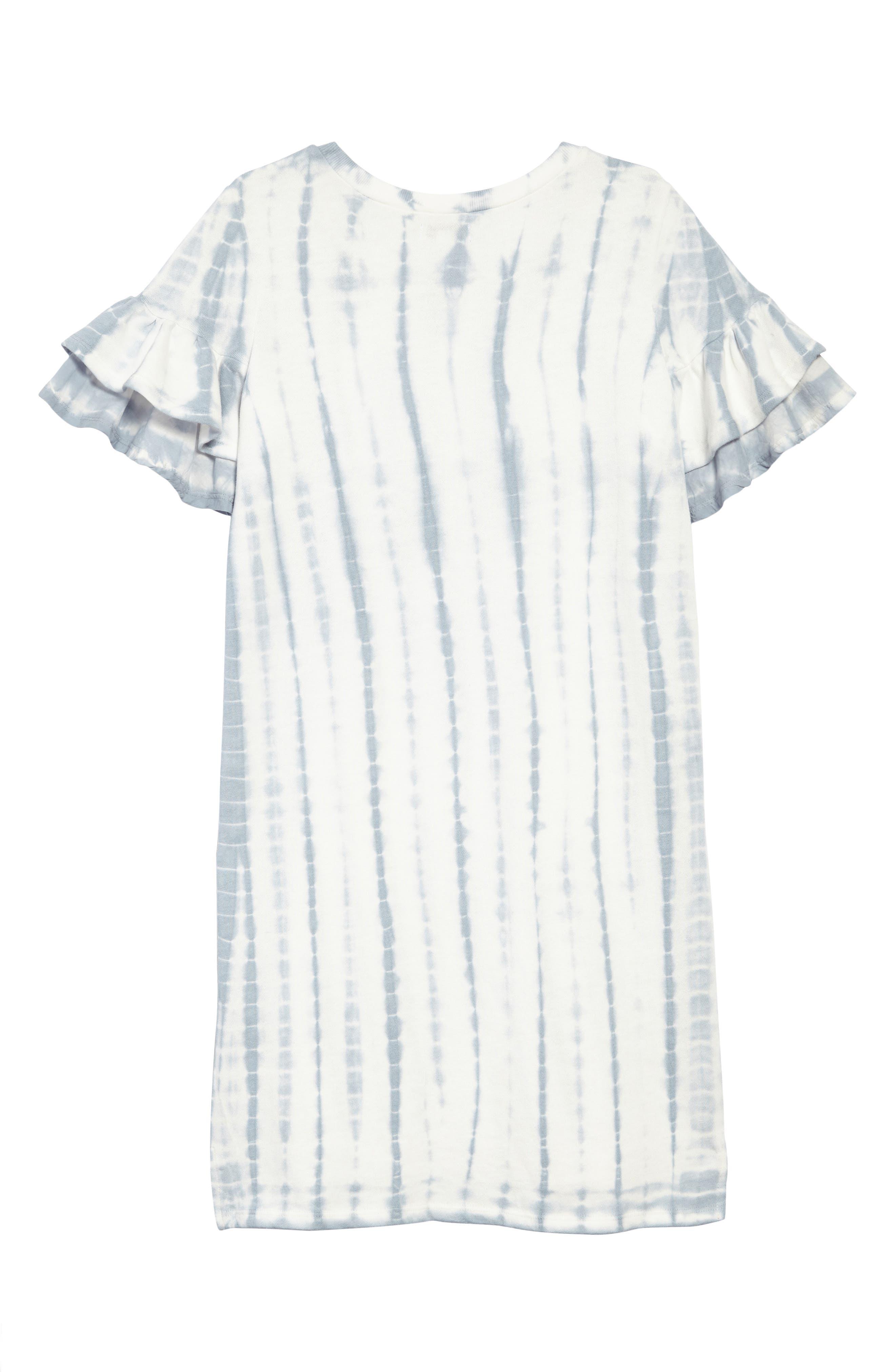 Ruffle Sleeve Sweatshirt Dress,                             Alternate thumbnail 2, color,                             478