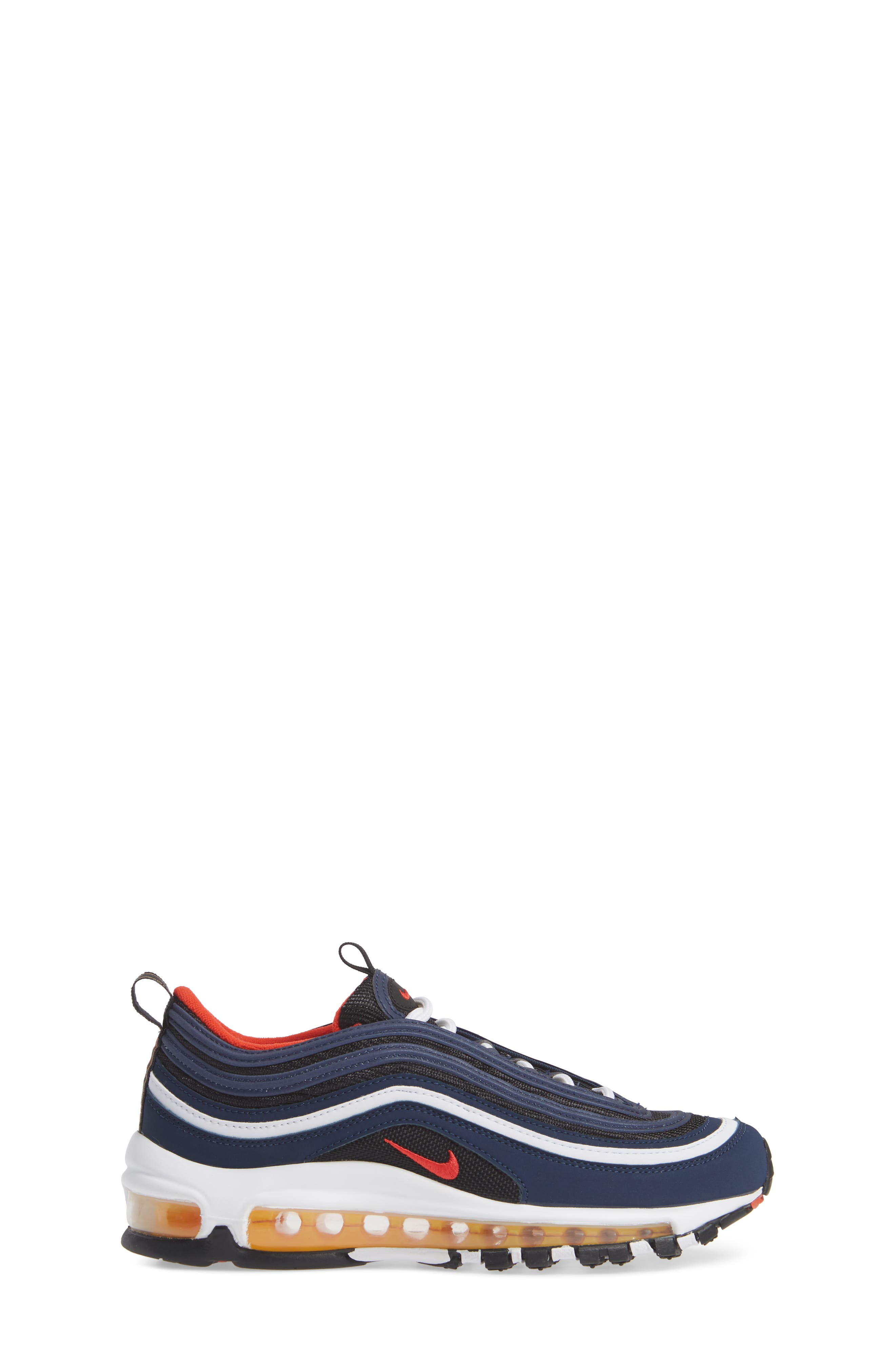 Air Max 97 Sneaker,                             Alternate thumbnail 3, color,                             MIDNIGHT NAVY/RED BLACK WHITE