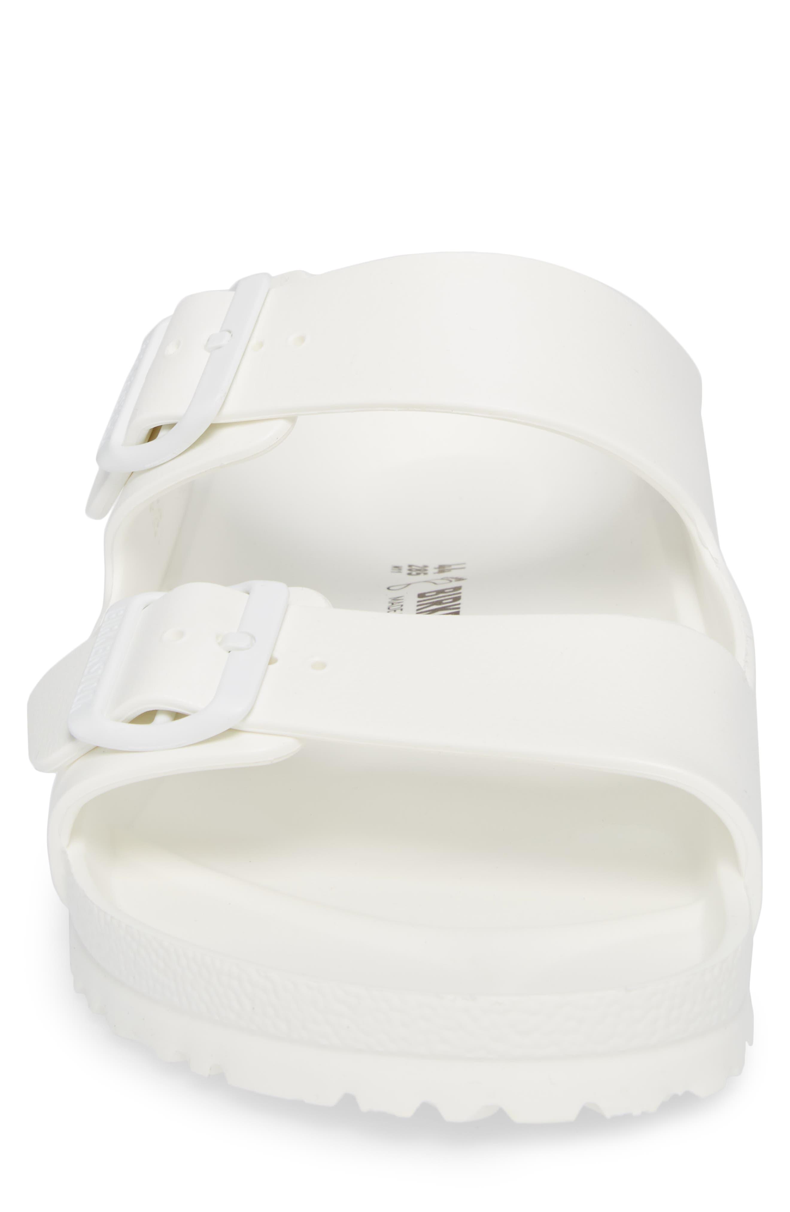 'Essentials - Arizona EVA' Waterproof Slide Sandal,                             Alternate thumbnail 4, color,                             WHITE
