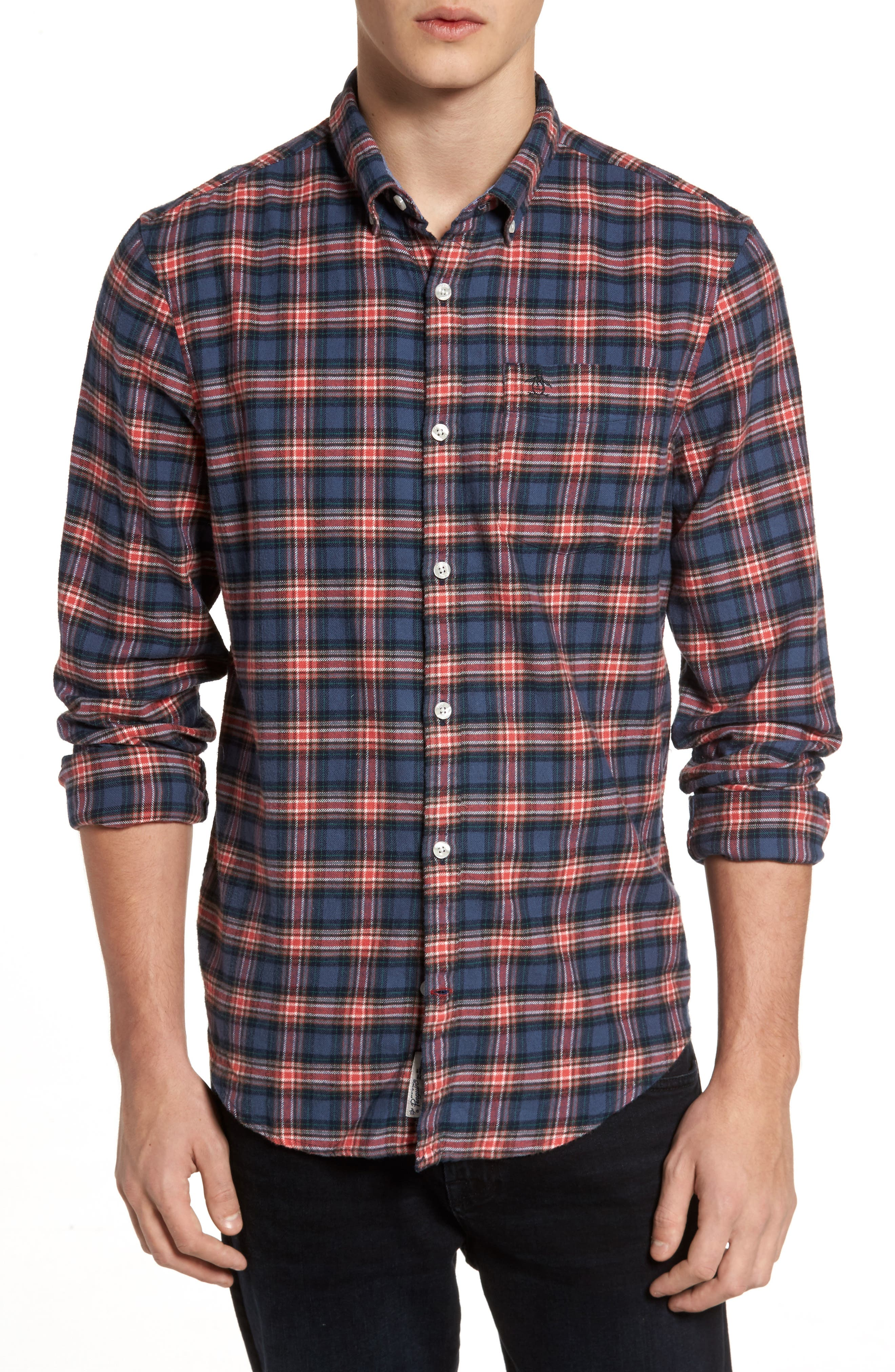 P55 Heritage Flannel Shirt,                         Main,                         color, 413