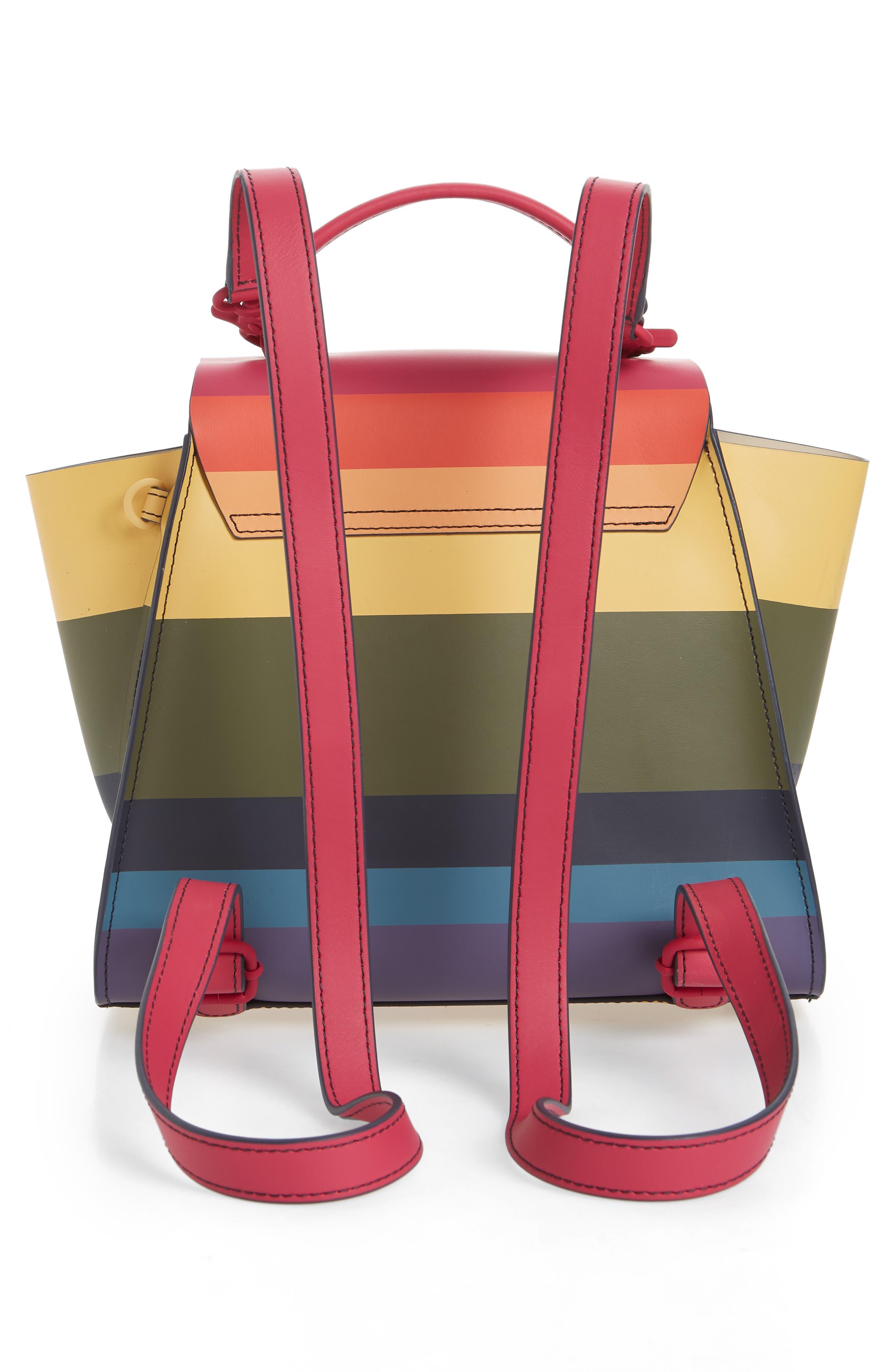 Eartha Iconic Convertible Backpack,                             Alternate thumbnail 4, color,                             RAINBOW
