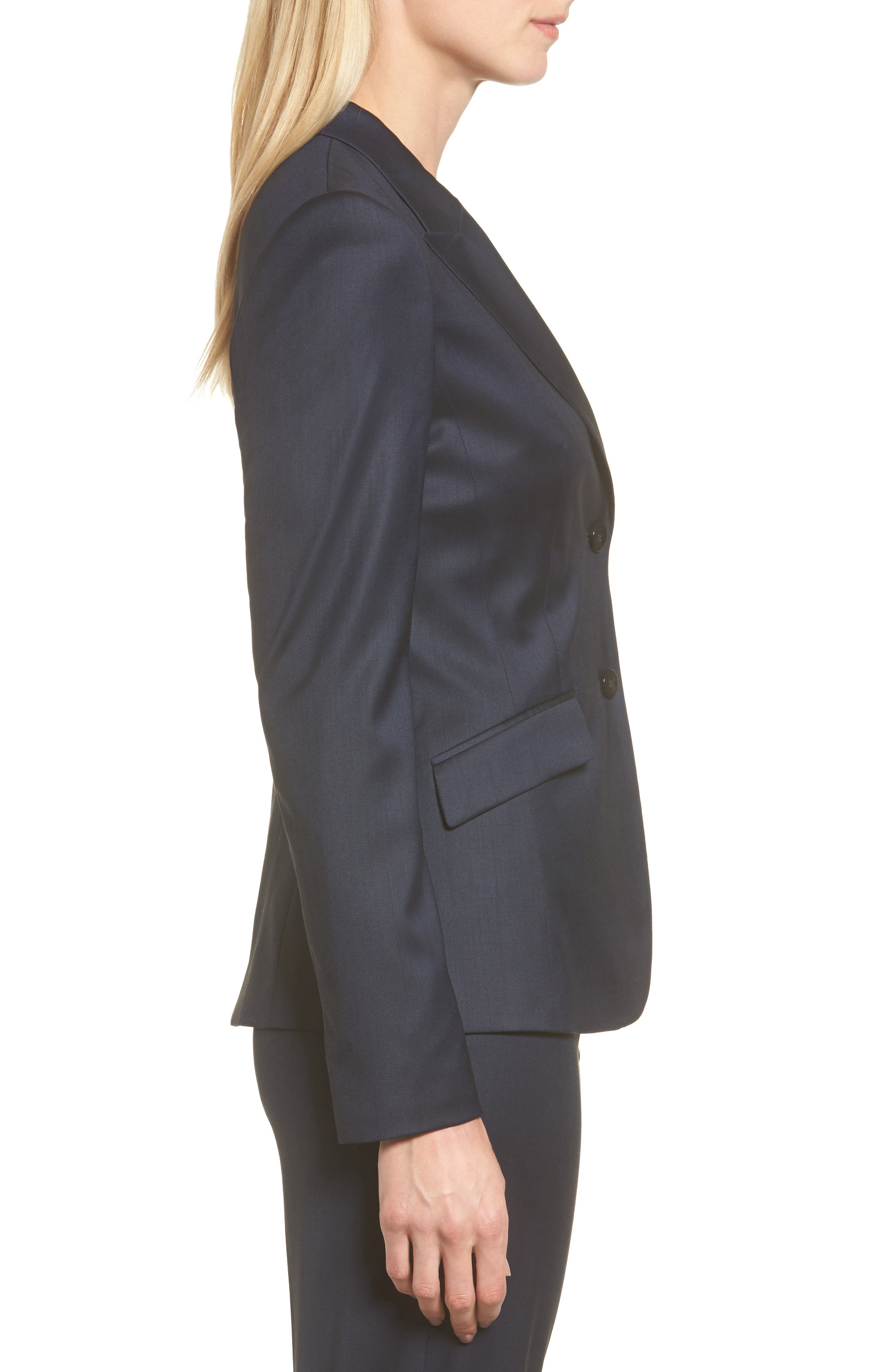 Stretch Wool Blend Suit Trousers,                             Alternate thumbnail 3, color,                             424