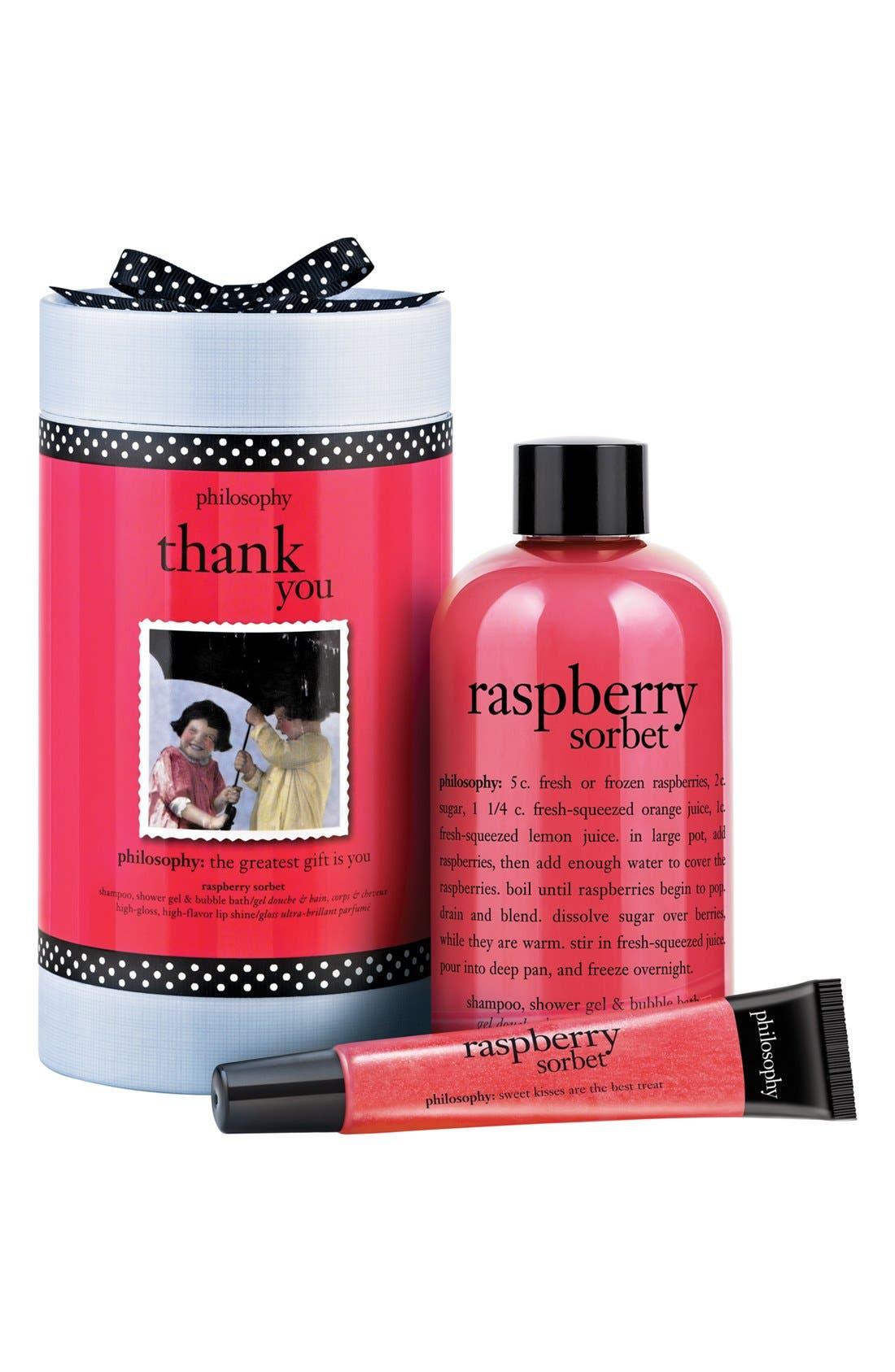 PHILOSOPHY 'thank you' set, Main, color, NO COLOR