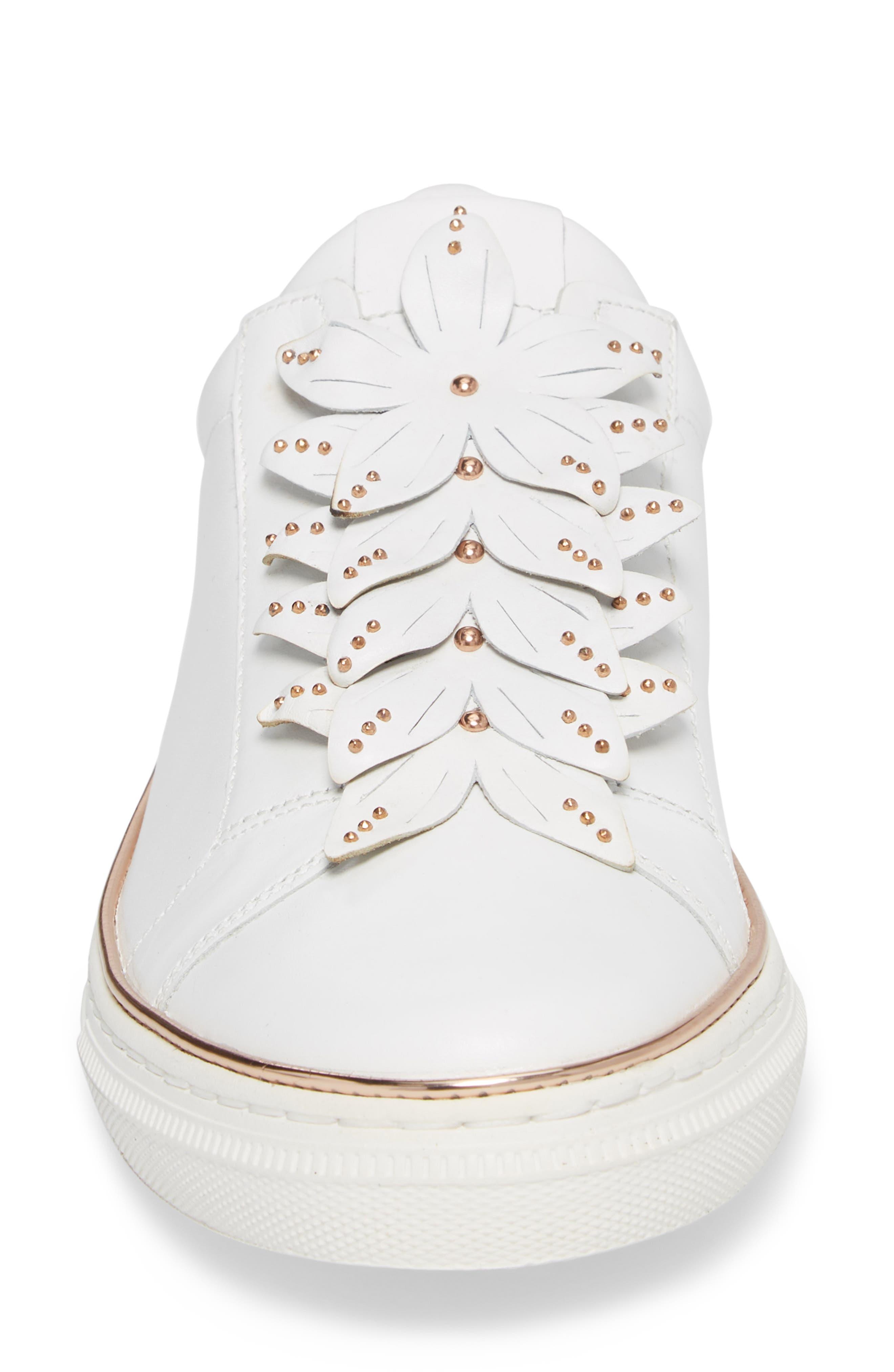 Embellished Sneaker,                             Alternate thumbnail 4, color,                             100