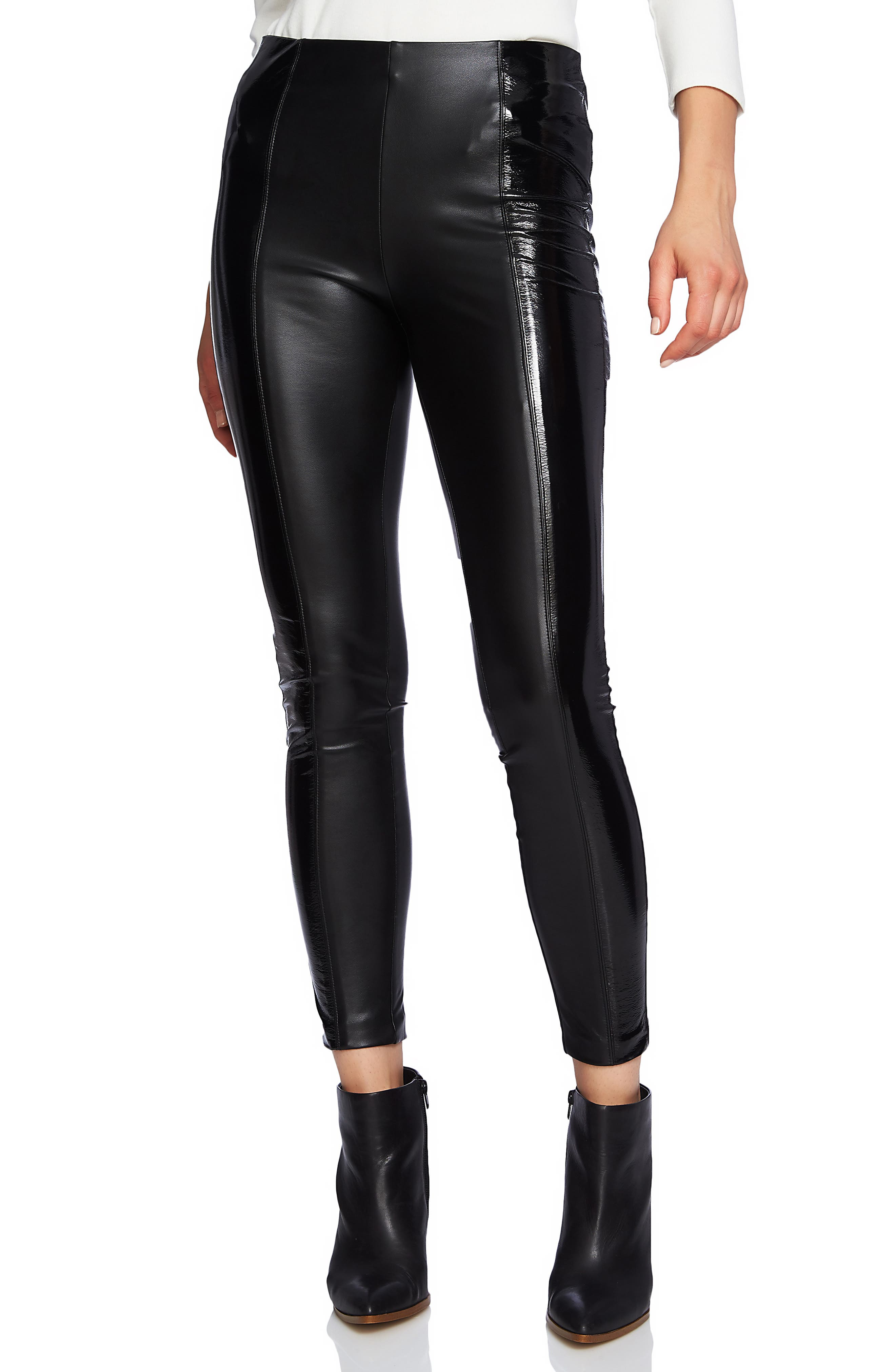 1.state Faux Patent Leather Leggings, Black