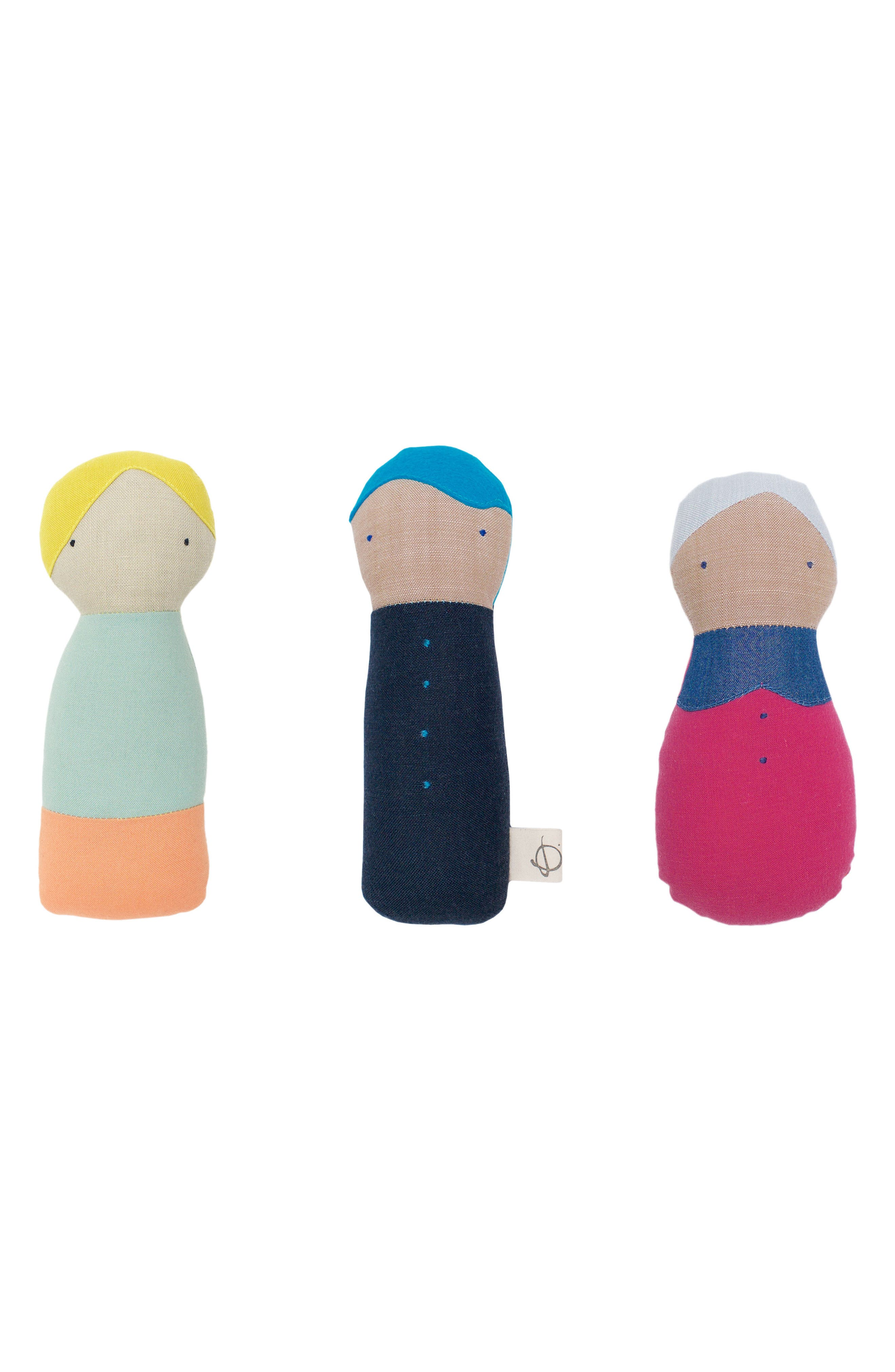 ouistitine x Pehr Little Peeps Rattle,                             Alternate thumbnail 4, color,