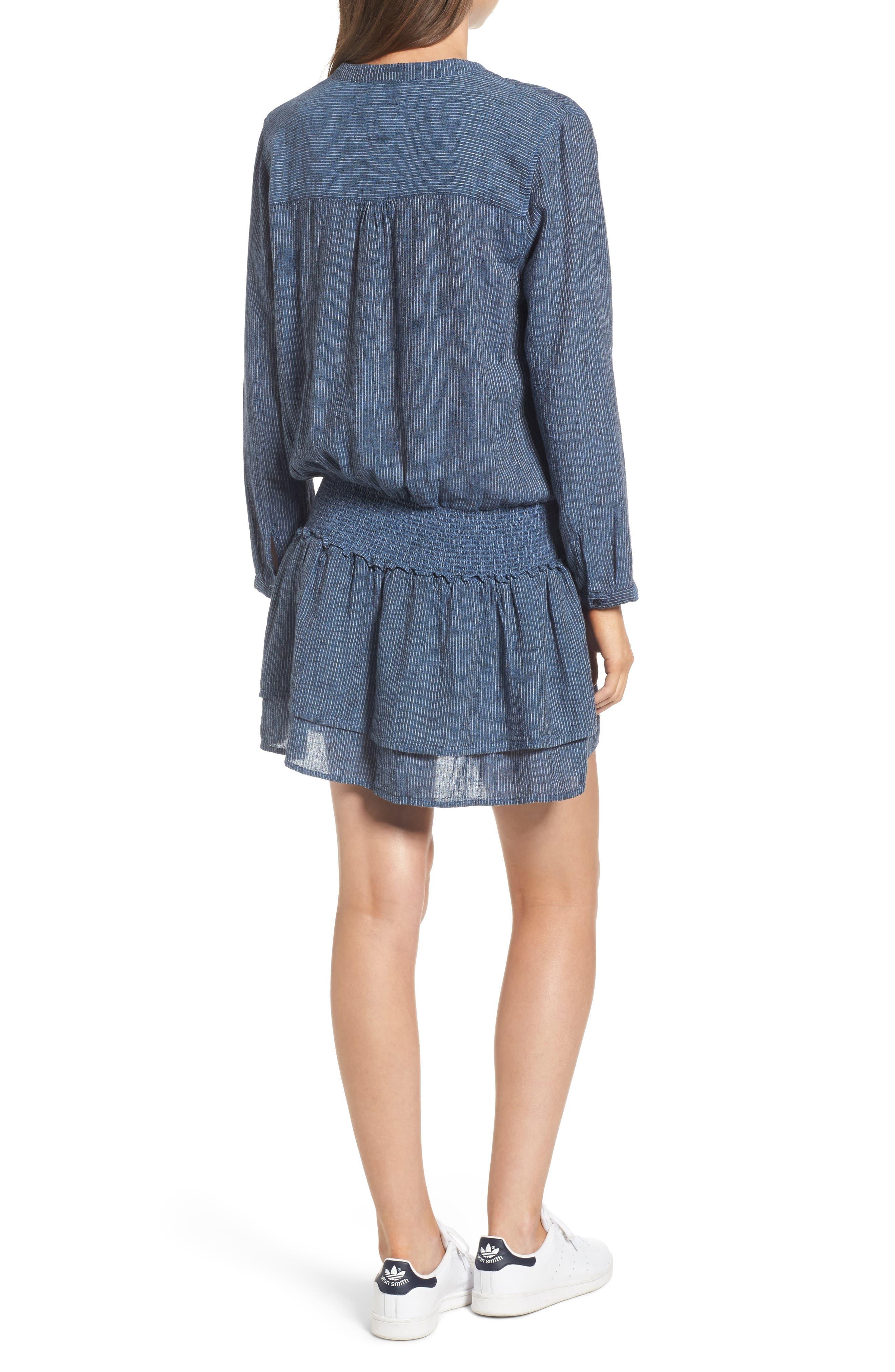 Juliette Linen Blend Dress,                             Alternate thumbnail 2, color,                             400