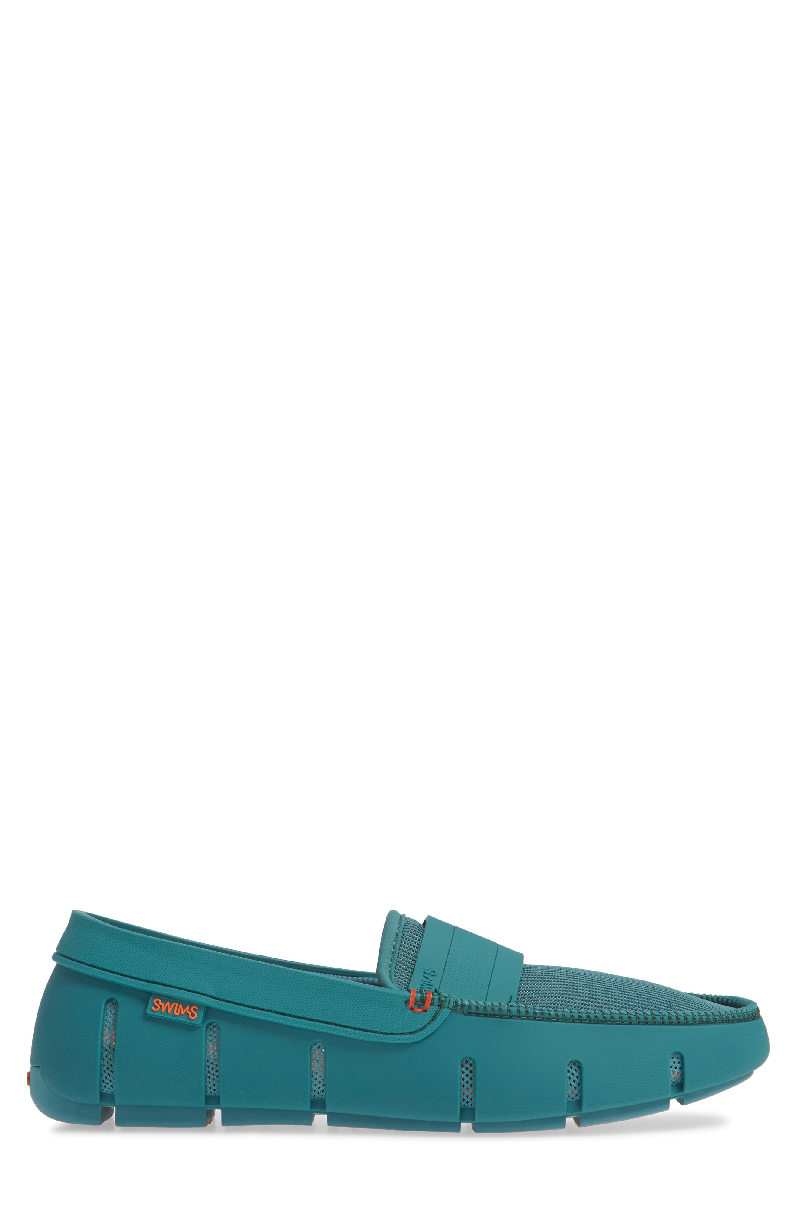 Stride Driving Loafer,                             Alternate thumbnail 3, color,                             TEAL GREEN