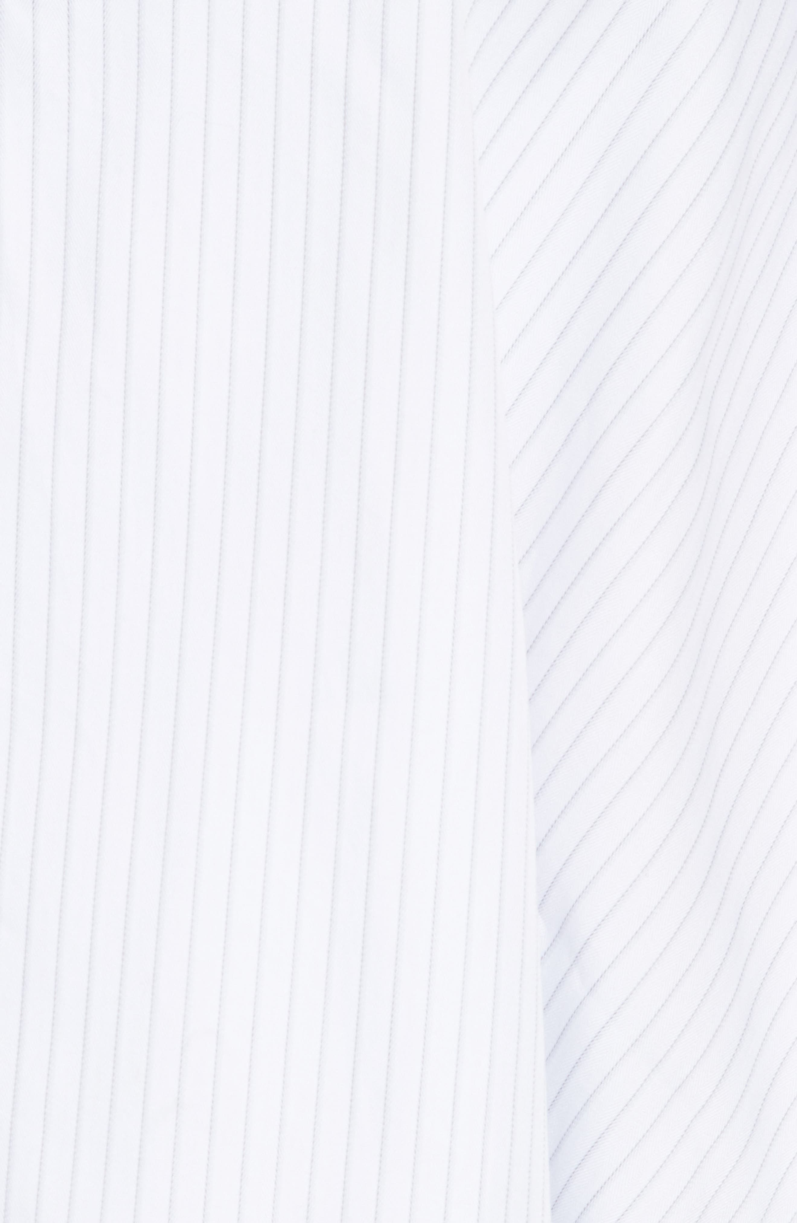 Janey Shirting Stripe Top,                             Alternate thumbnail 5, color,                             020
