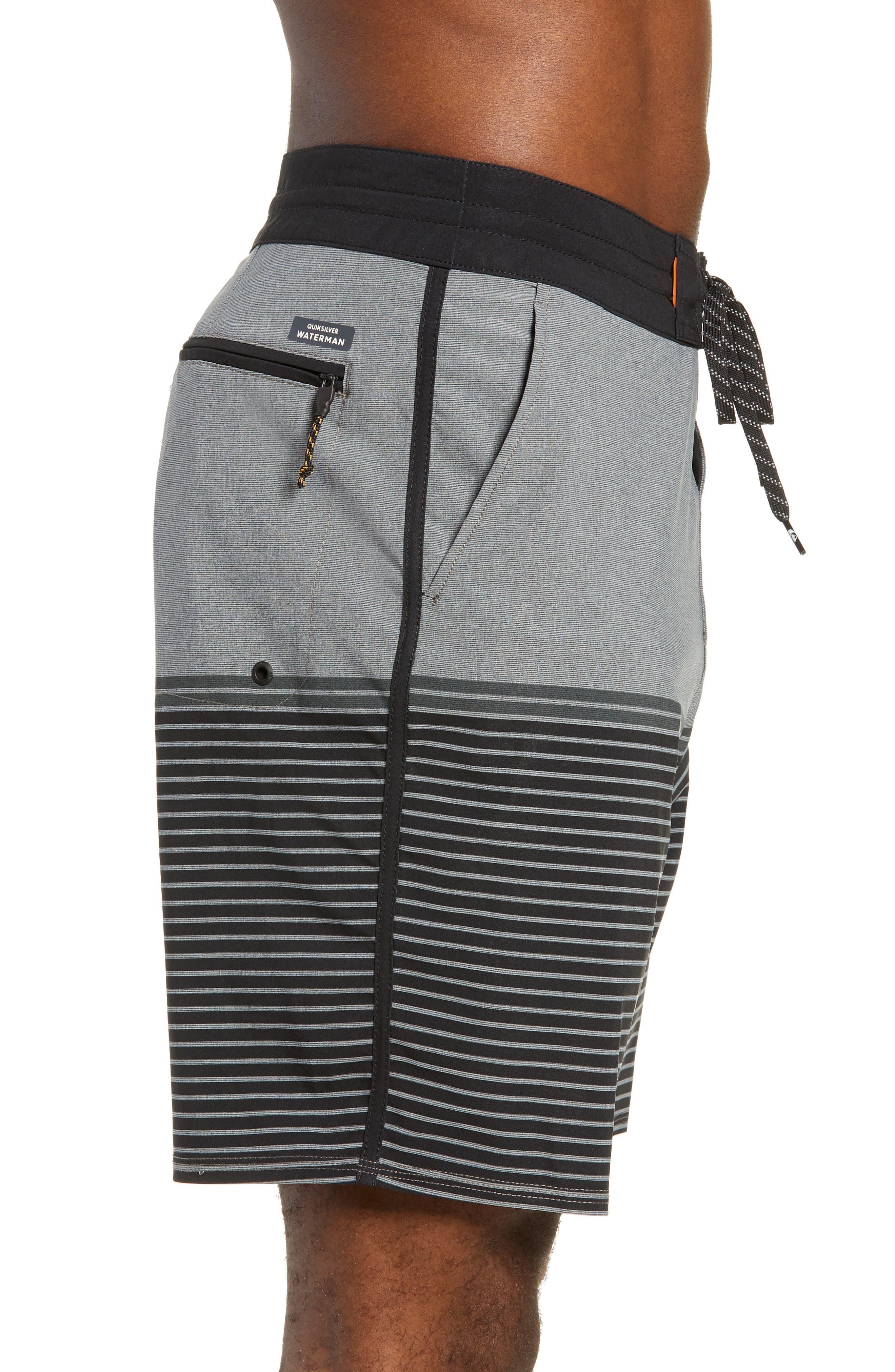 Liberty Stripe Board Shorts,                             Alternate thumbnail 4, color,                             DARK SHADOW