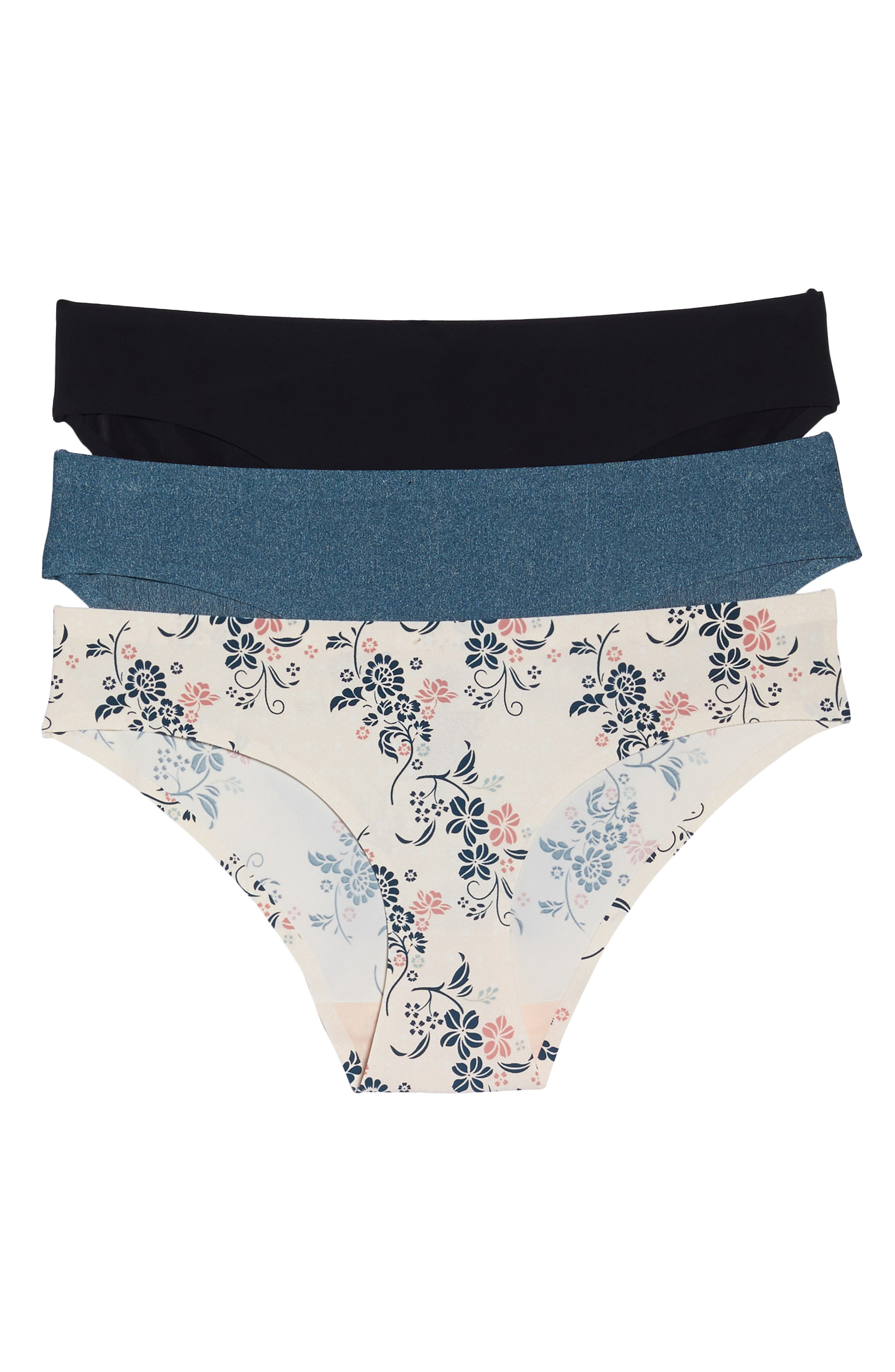 3-Pack Hipster Panties,                             Main thumbnail 1, color,                             BLACK/ SIREN/ ENERGY FLORAL