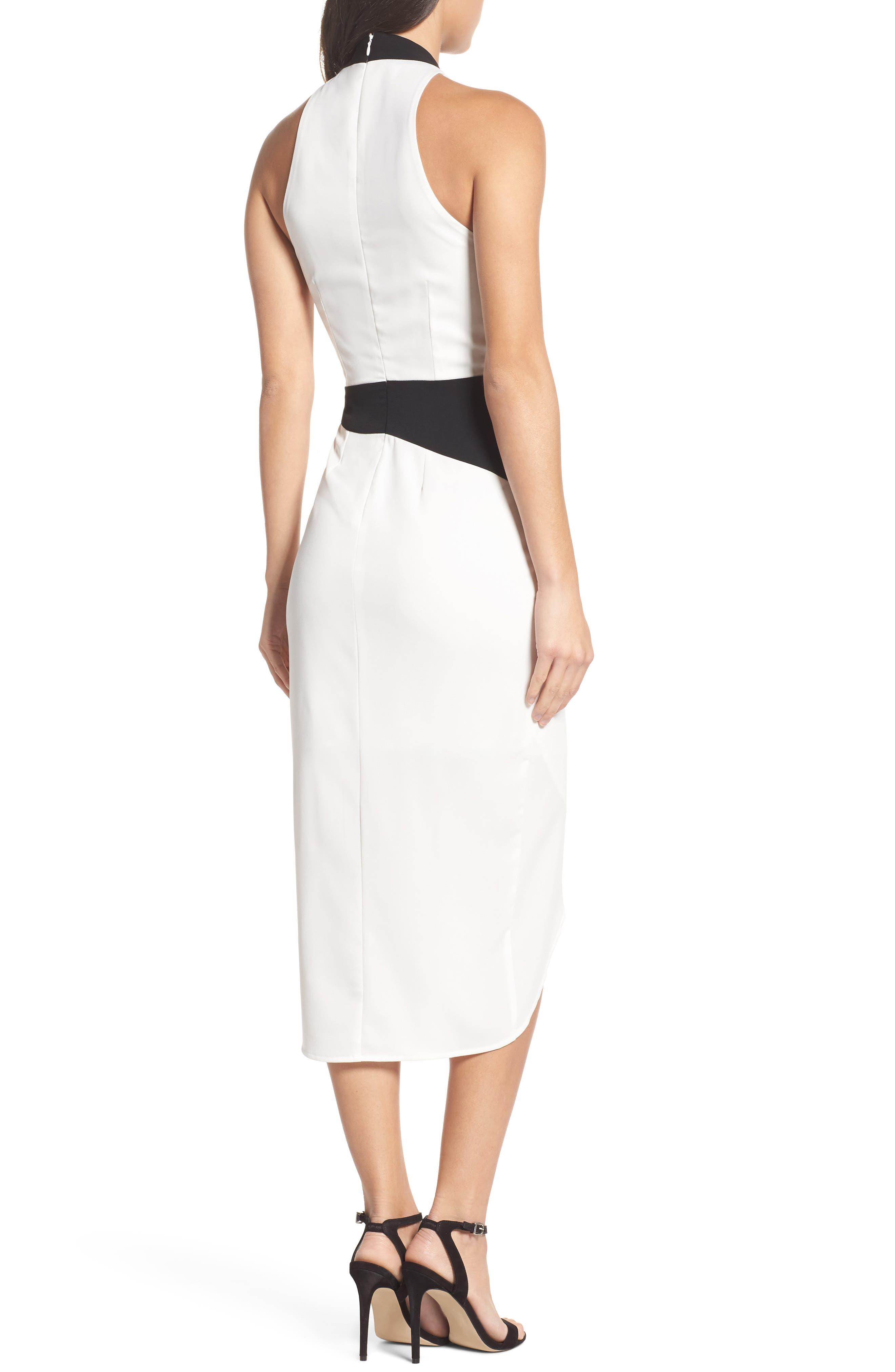 Claudia Drape Midi Dress,                             Alternate thumbnail 3, color,