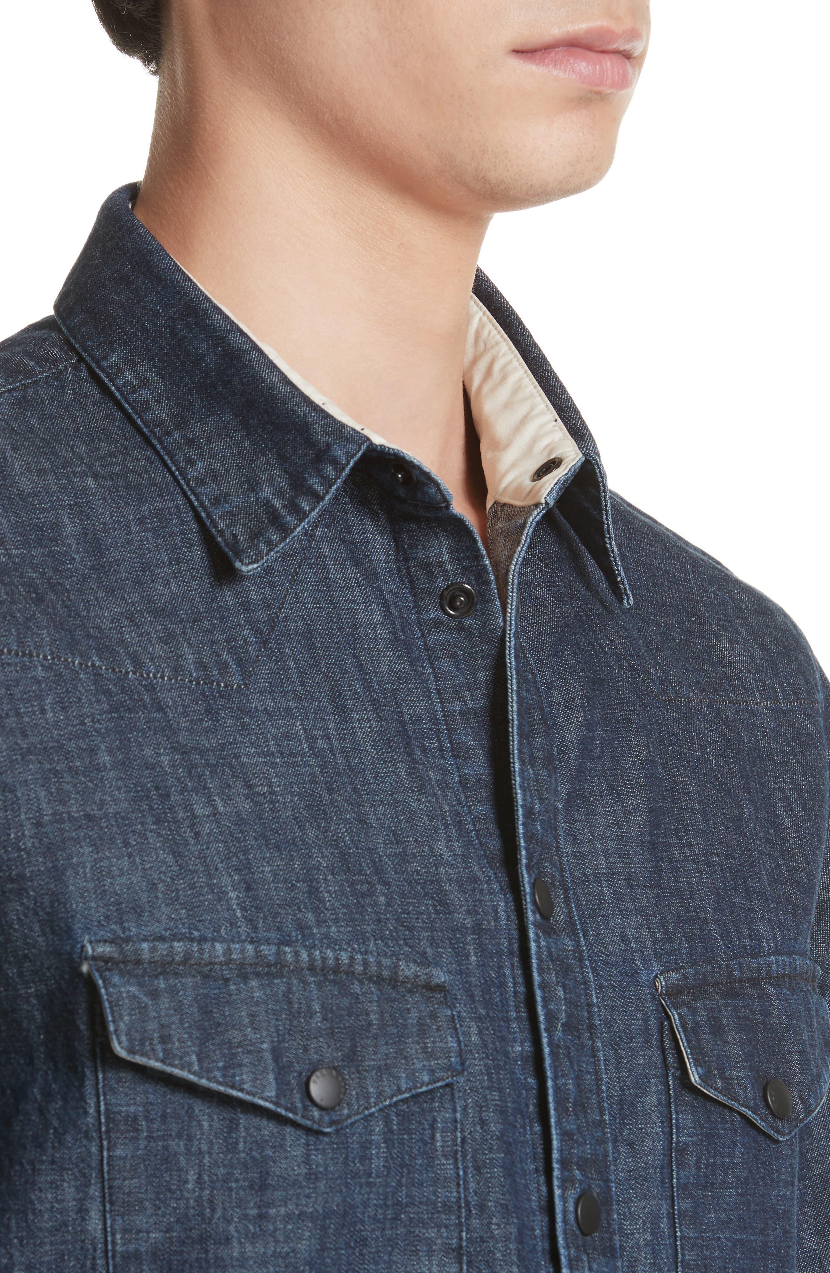 Beck Denim Shirt,                             Alternate thumbnail 5, color,                             470