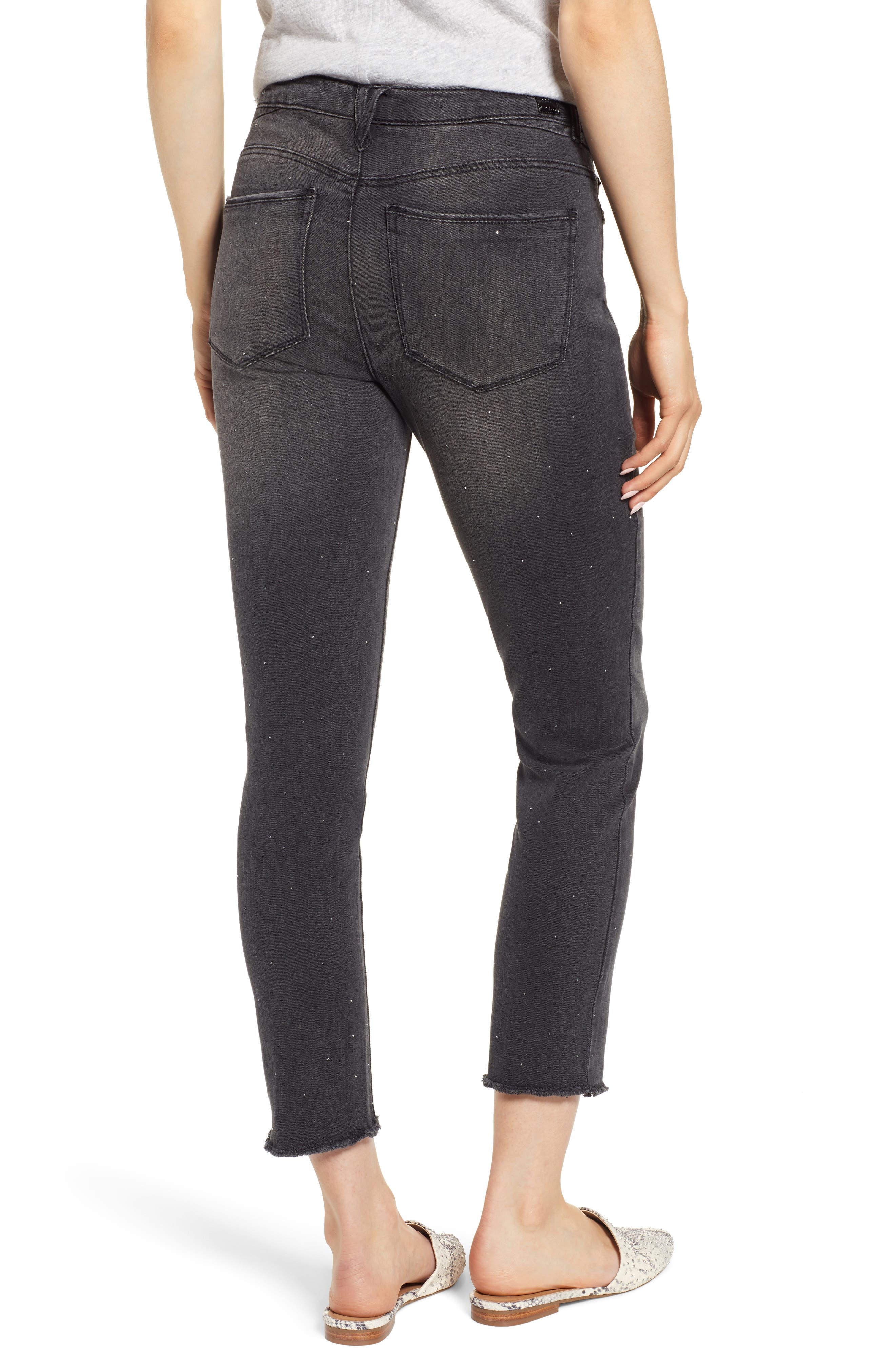 Ab-Solution Embellished Ankle Jeans,                             Alternate thumbnail 2, color,                             001