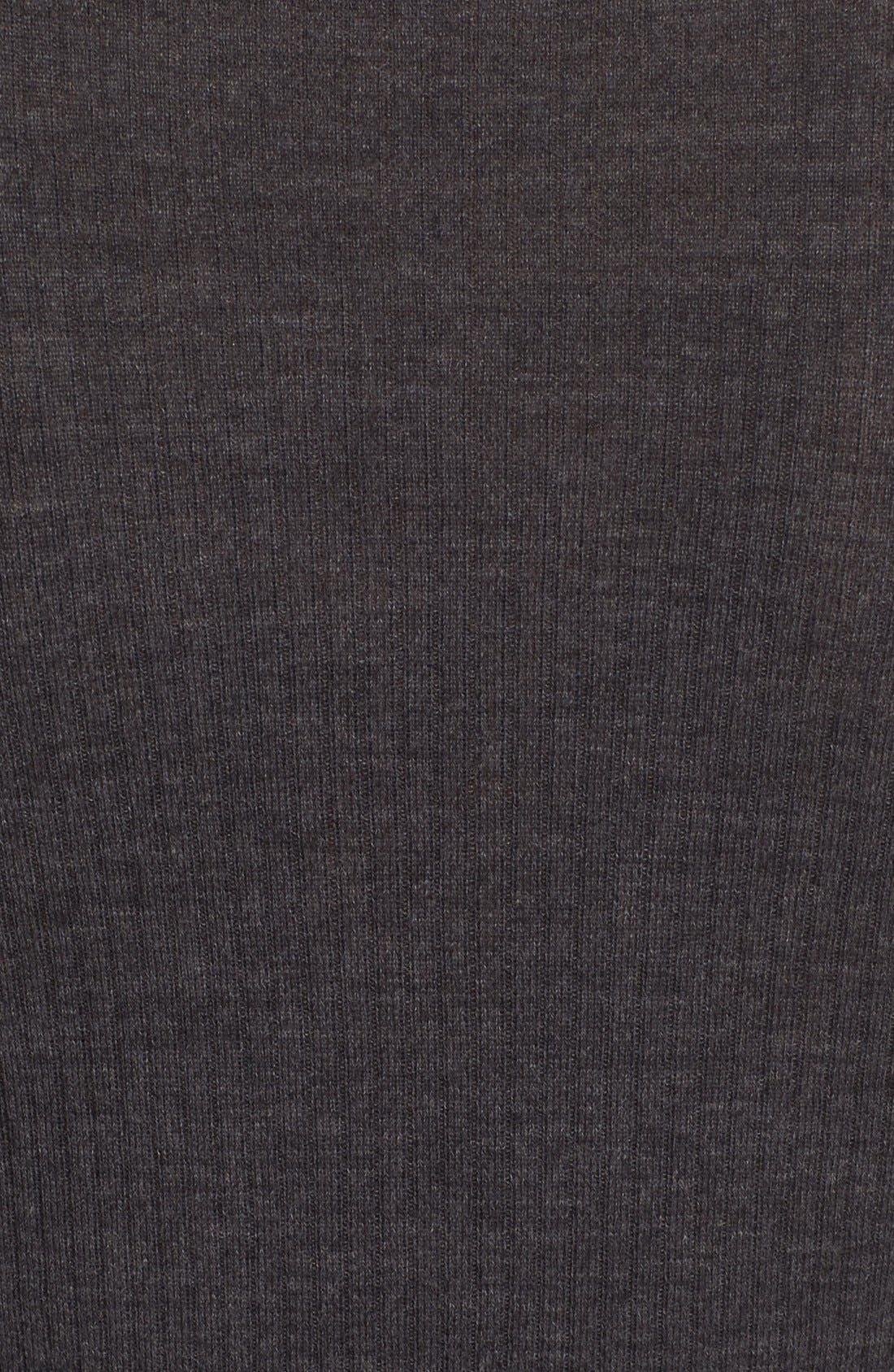 'Mirzi' Rib Knit Merino Wool Sweater,                             Alternate thumbnail 5, color,                             CHARCOAL MELANGE