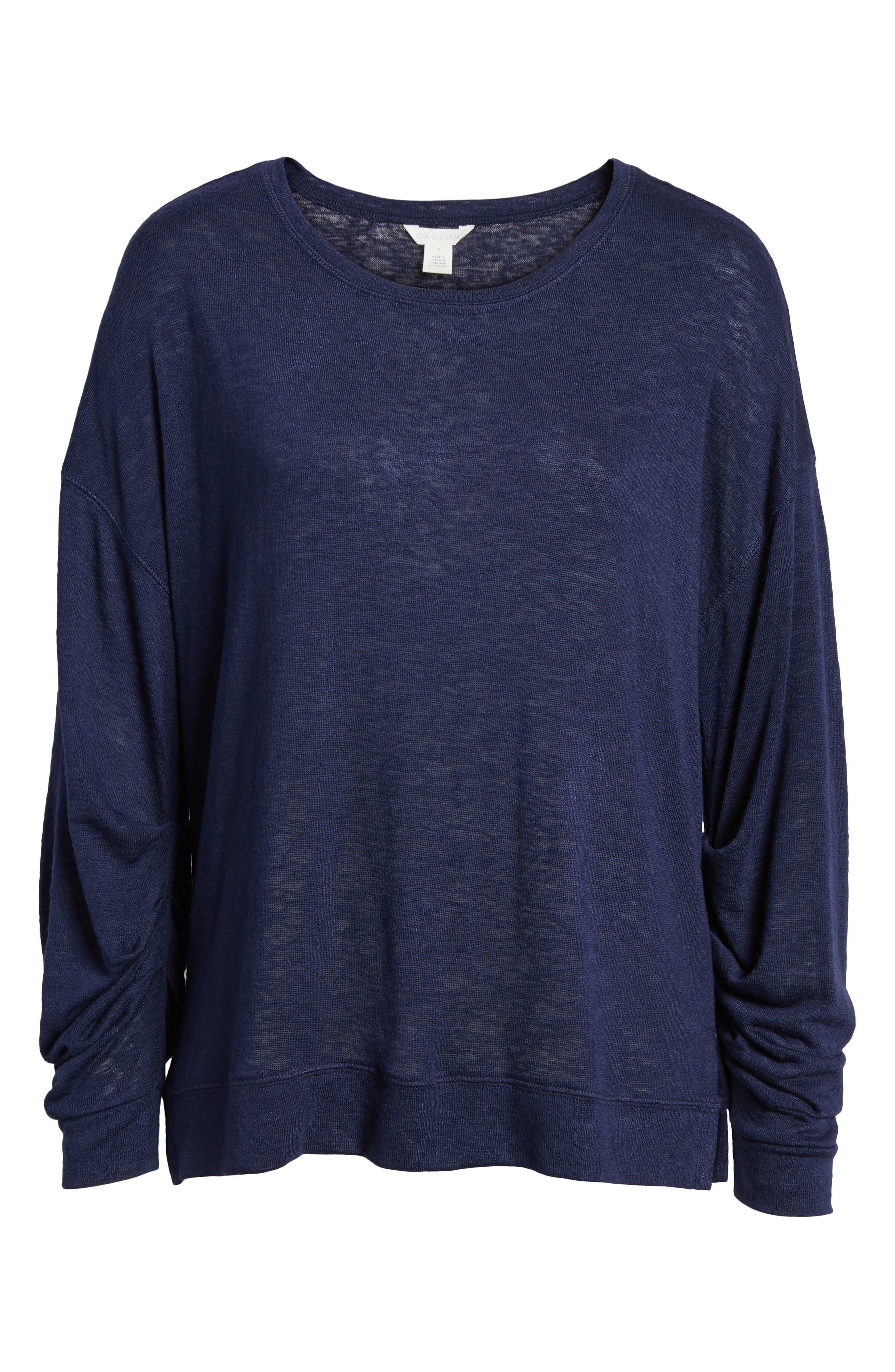 Tuck Sleeve Sweatshirt,                             Alternate thumbnail 35, color,
