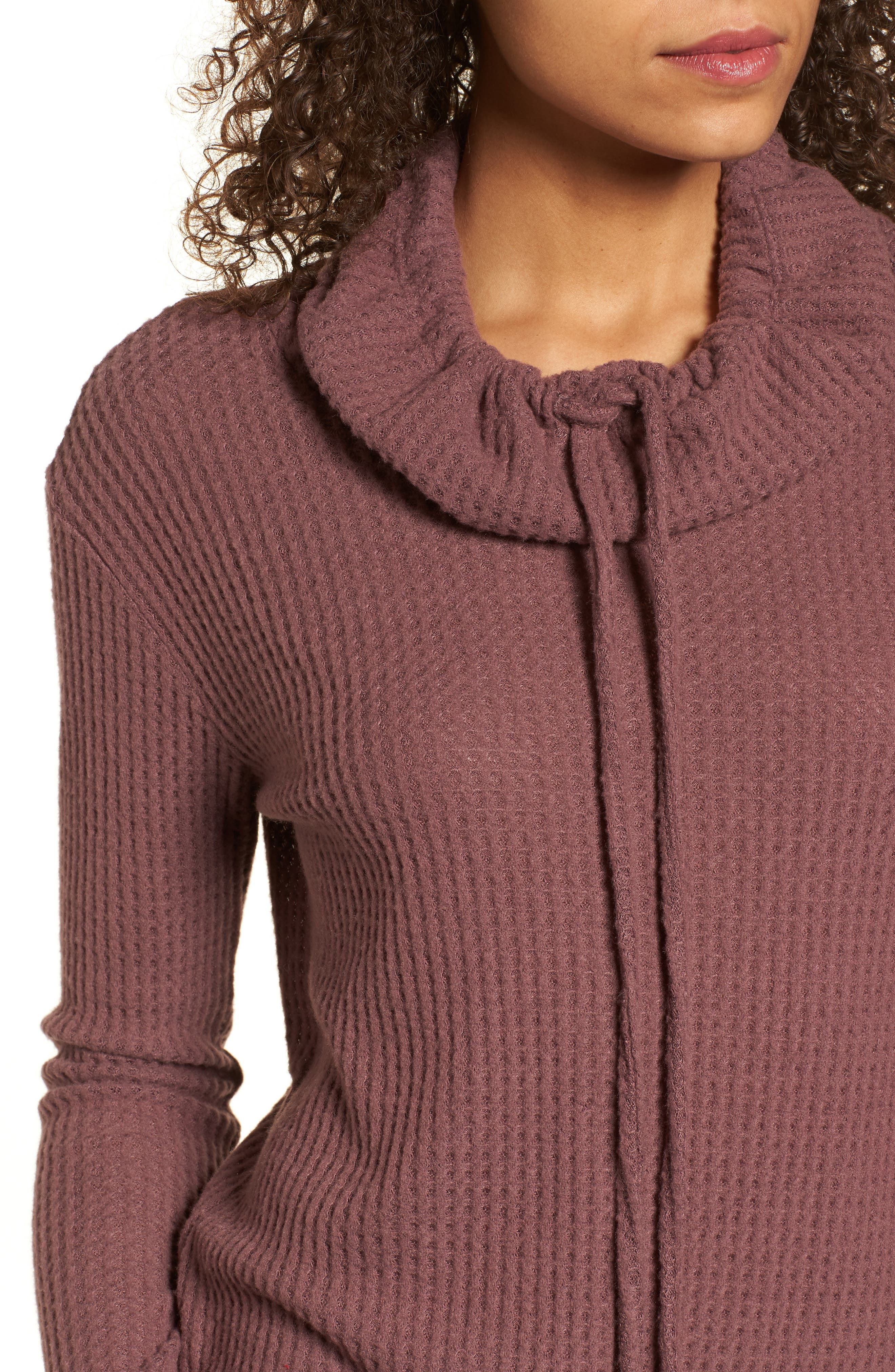 Cowl Neck Waffle Knit Top,                             Alternate thumbnail 16, color,