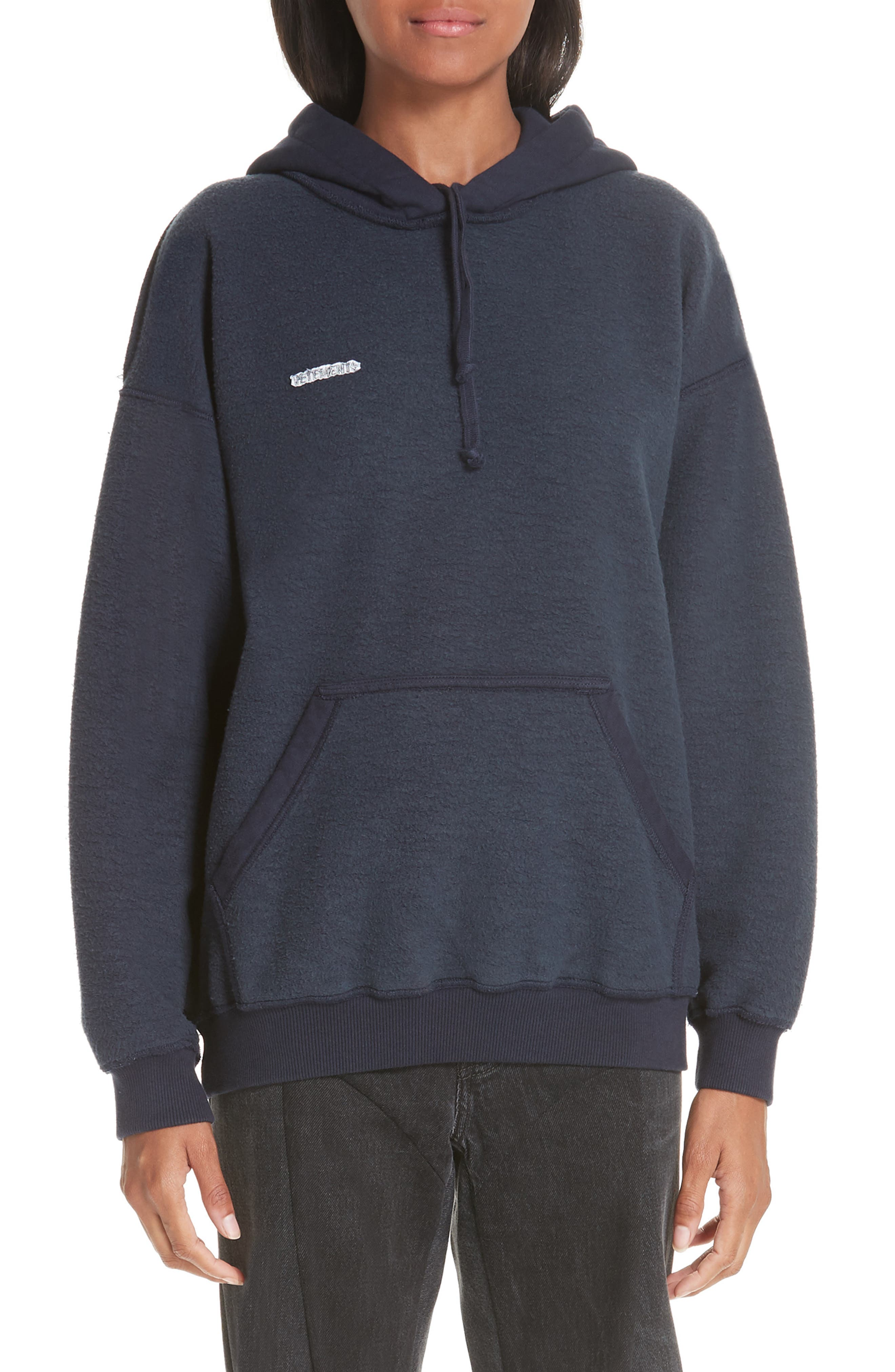 Inside-Out Hoodie,                         Main,                         color, NAVY