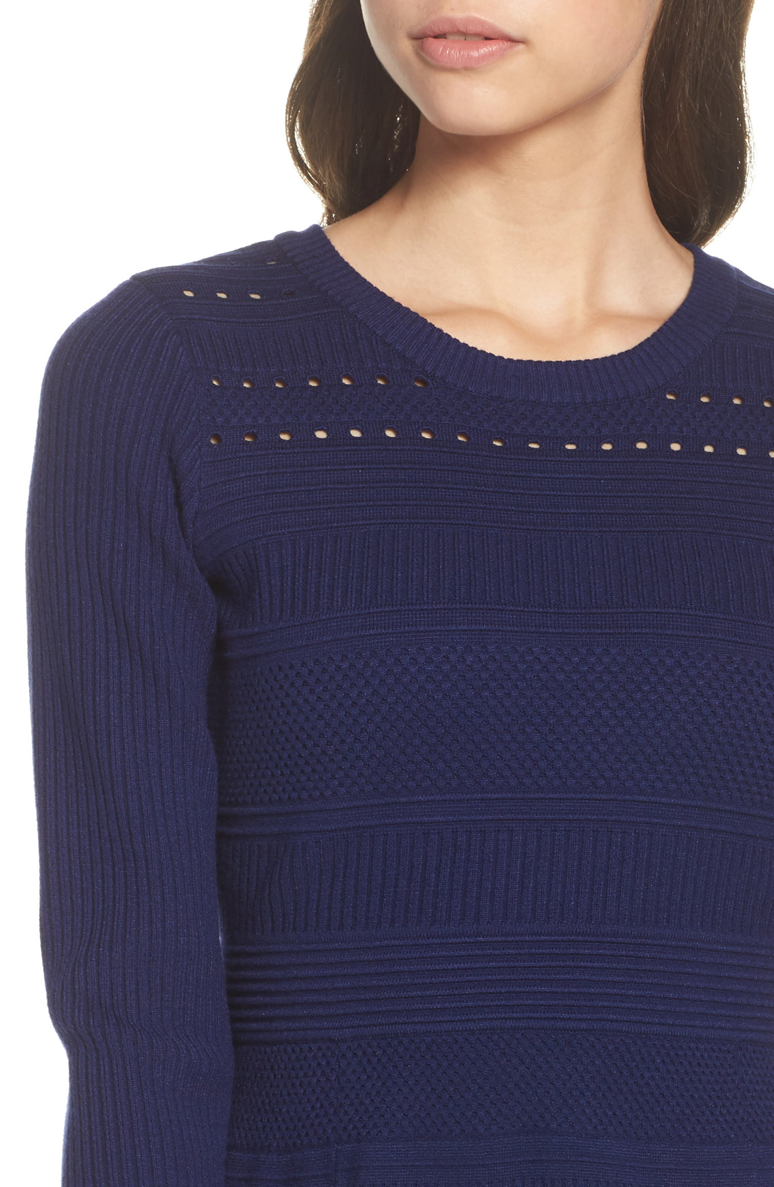 Fit & Flare Sweater Dress,                             Alternate thumbnail 15, color,