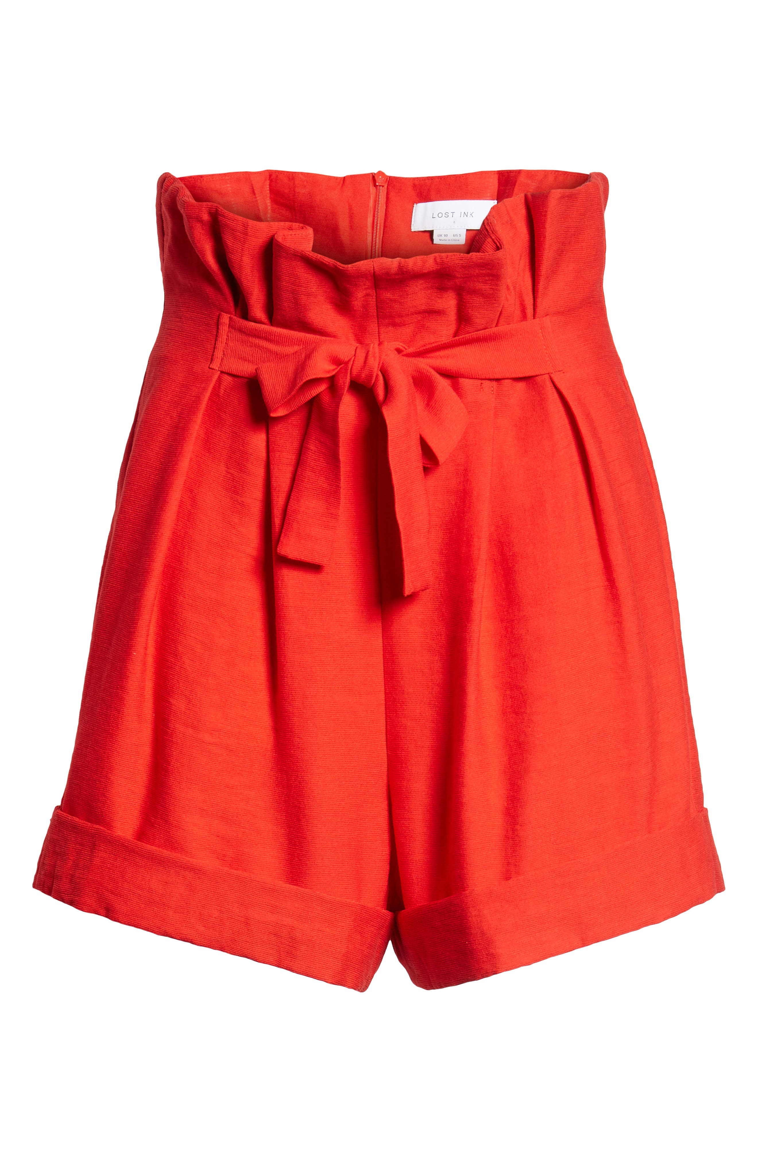 High Waist Short with Tie Detail,                             Alternate thumbnail 6, color,                             600