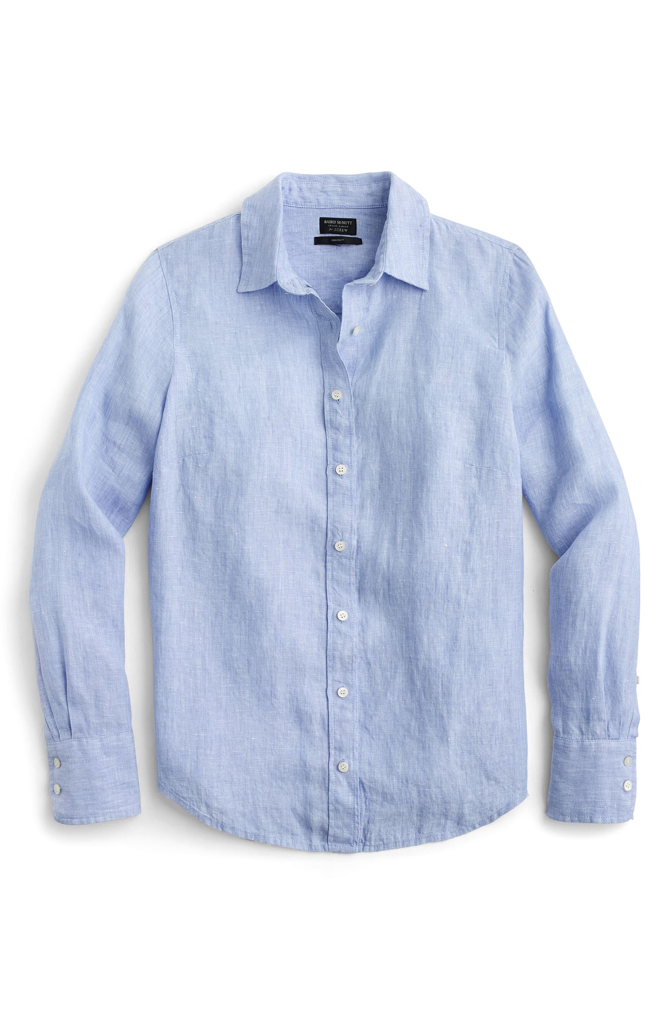 Slim Perfect Cross Dyed Irish Linen Shirt,                             Alternate thumbnail 2, color,                             402