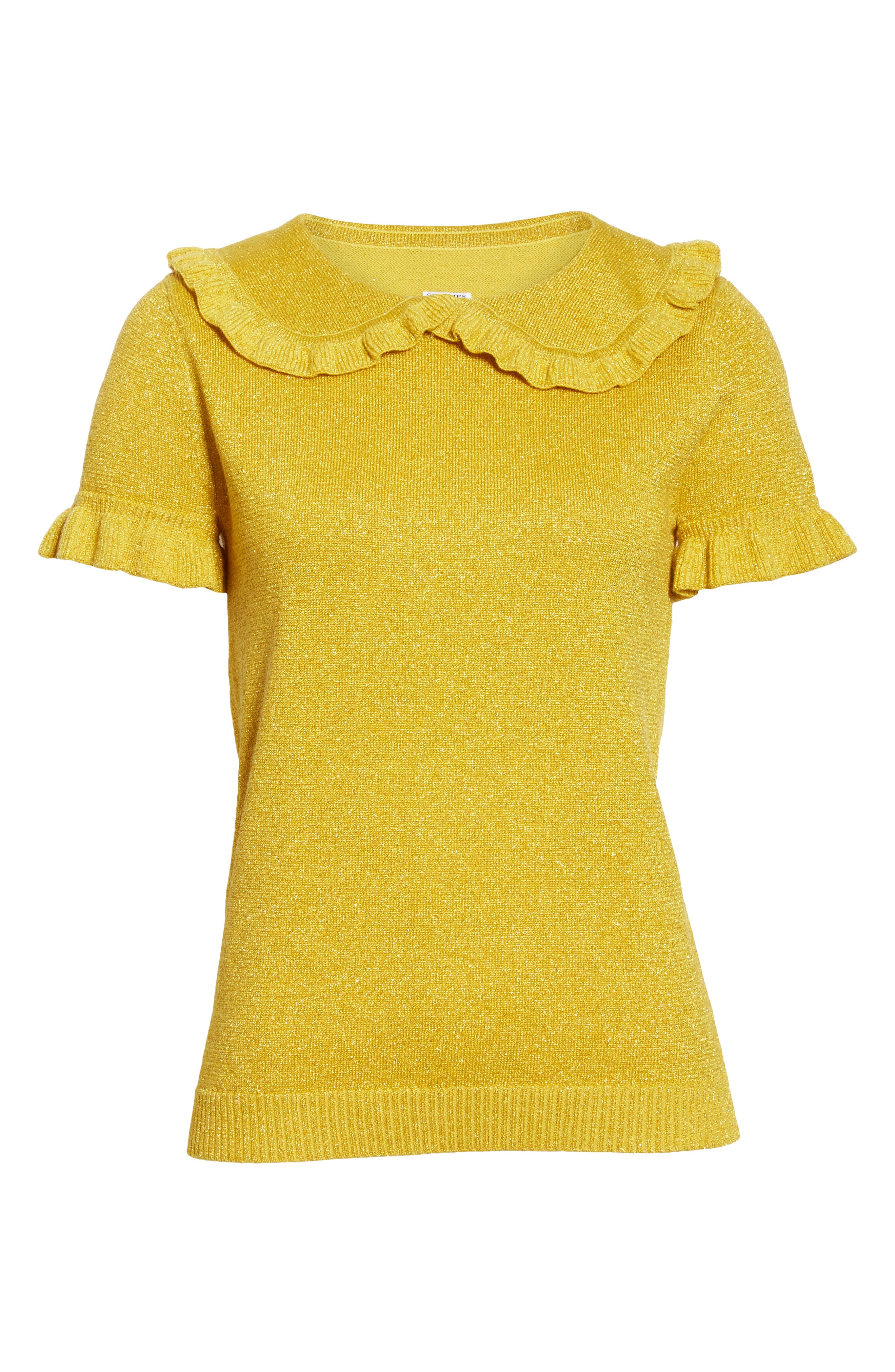 Campbell Frill Metallic Sweater,                             Alternate thumbnail 6, color,                             700