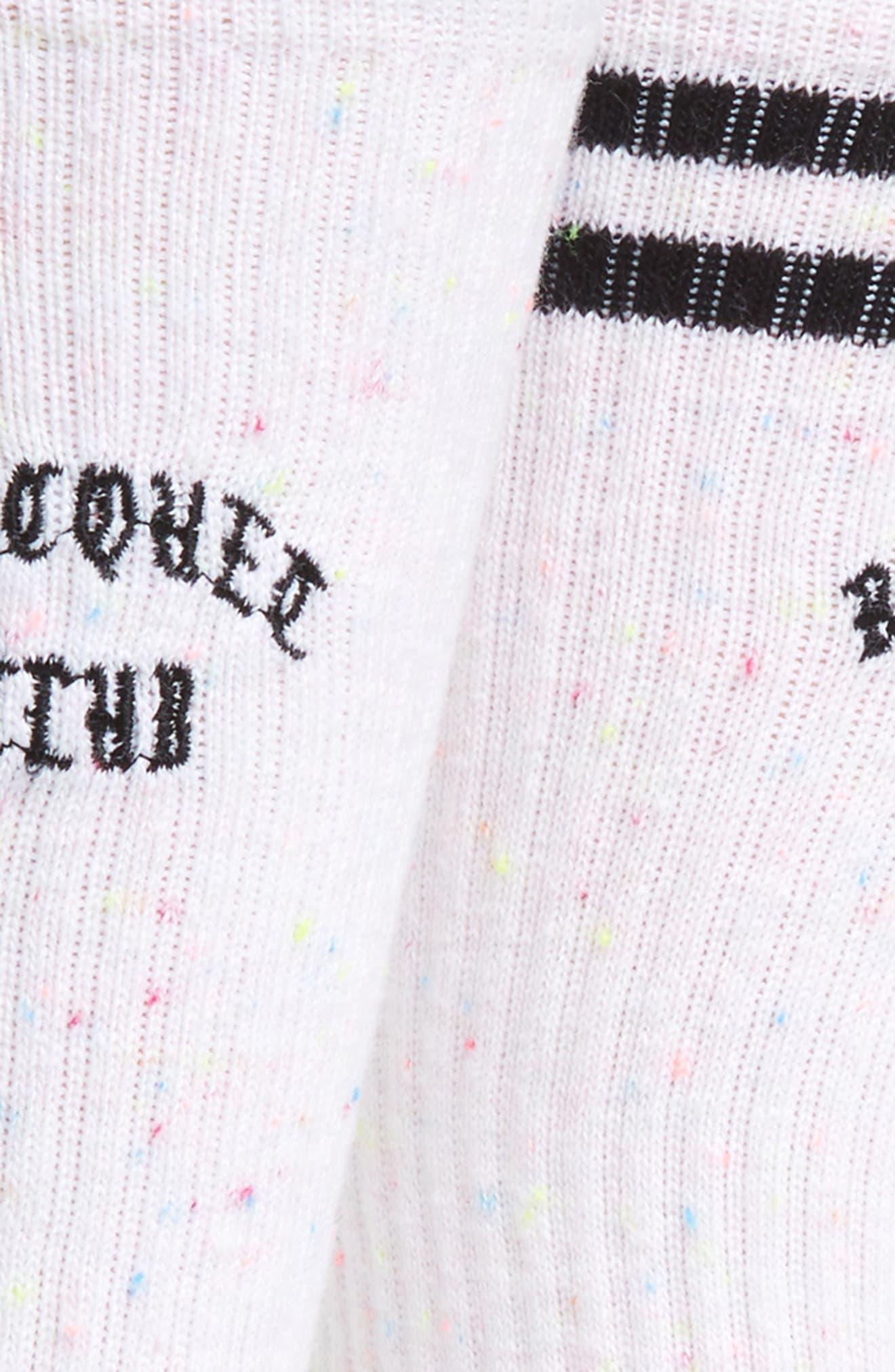 All Racquet Crew Socks,                             Alternate thumbnail 2, color,                             WHITE