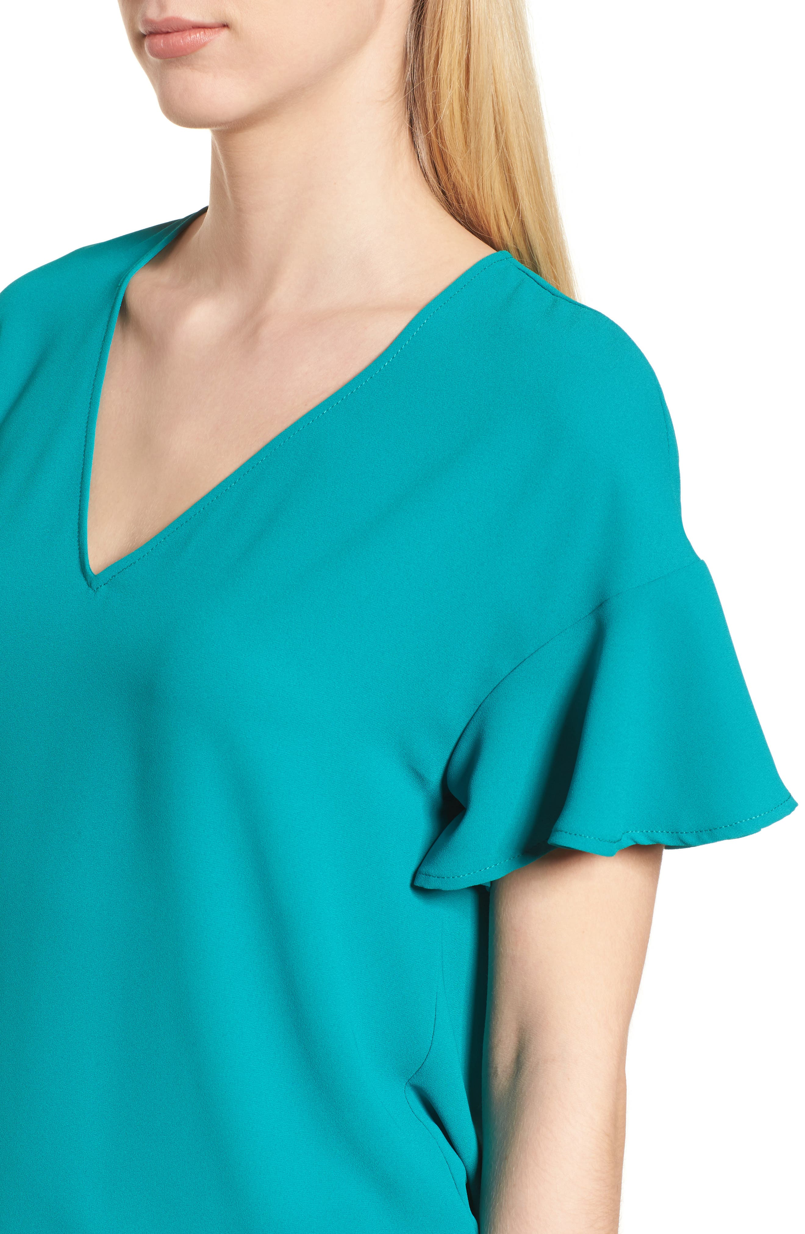 Crepe Tee,                             Alternate thumbnail 28, color,