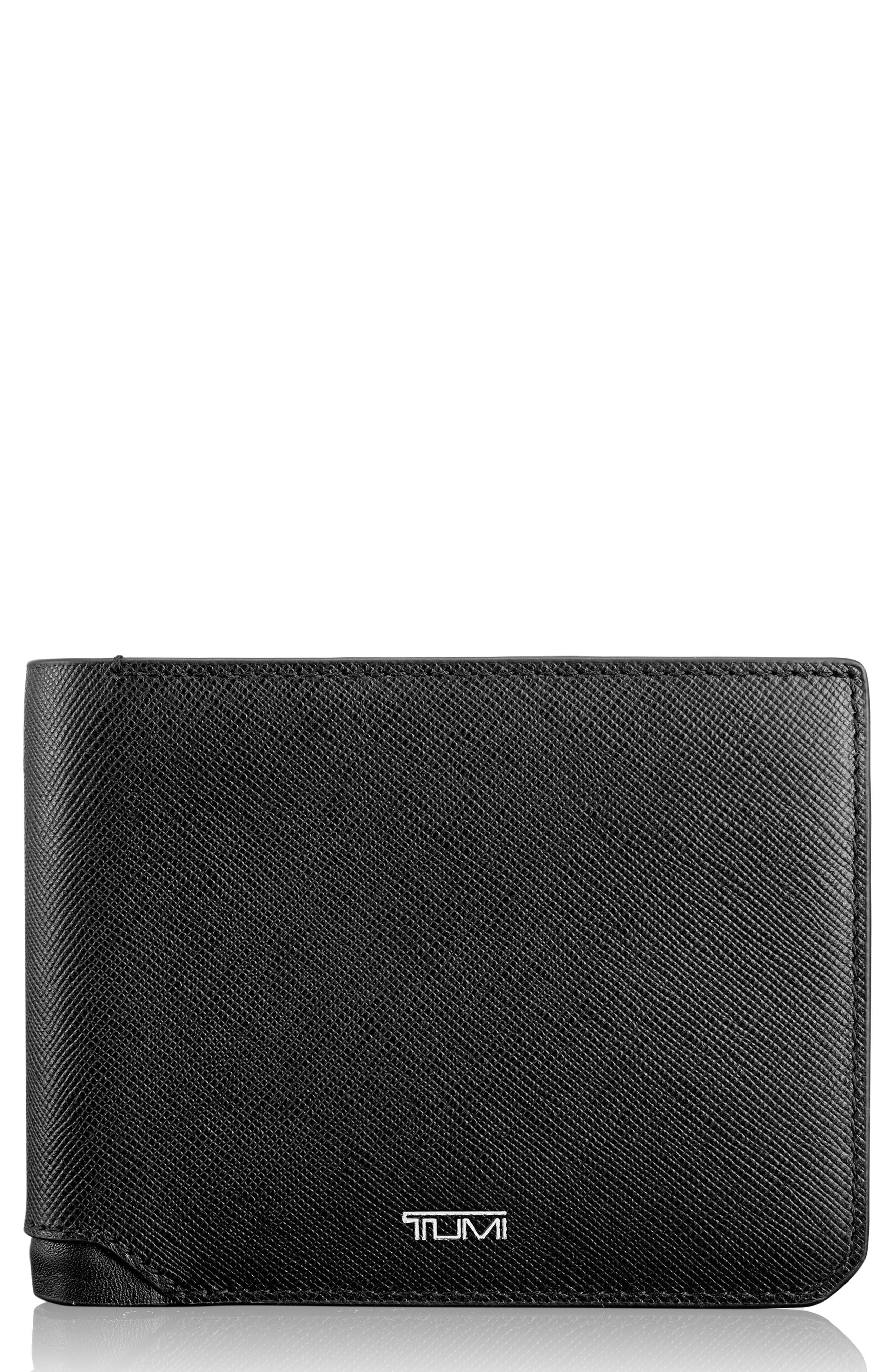 Leather Wallet,                             Alternate thumbnail 2, color,                             001