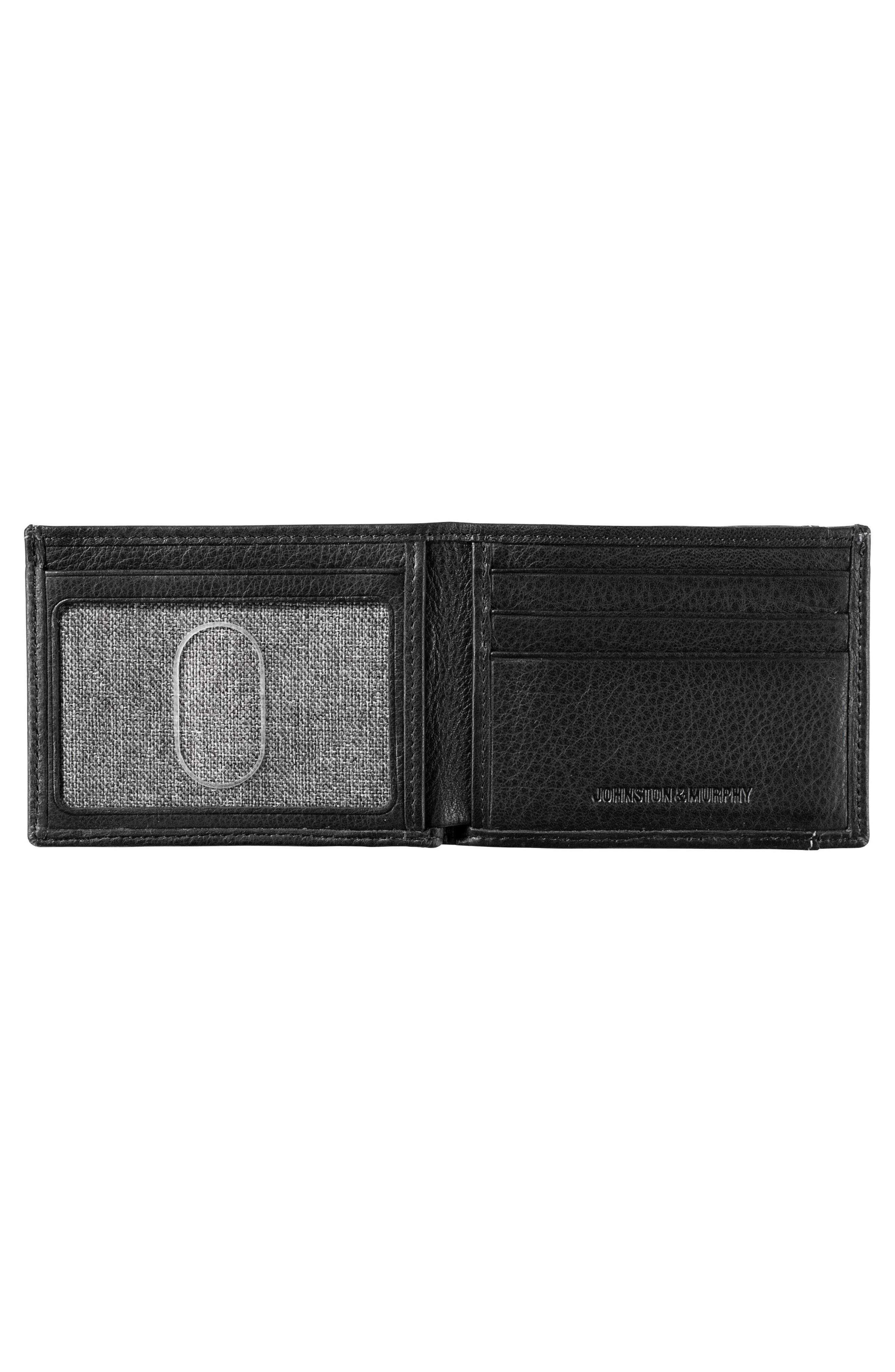 Leather Wallet,                             Alternate thumbnail 2, color,                             BLACK