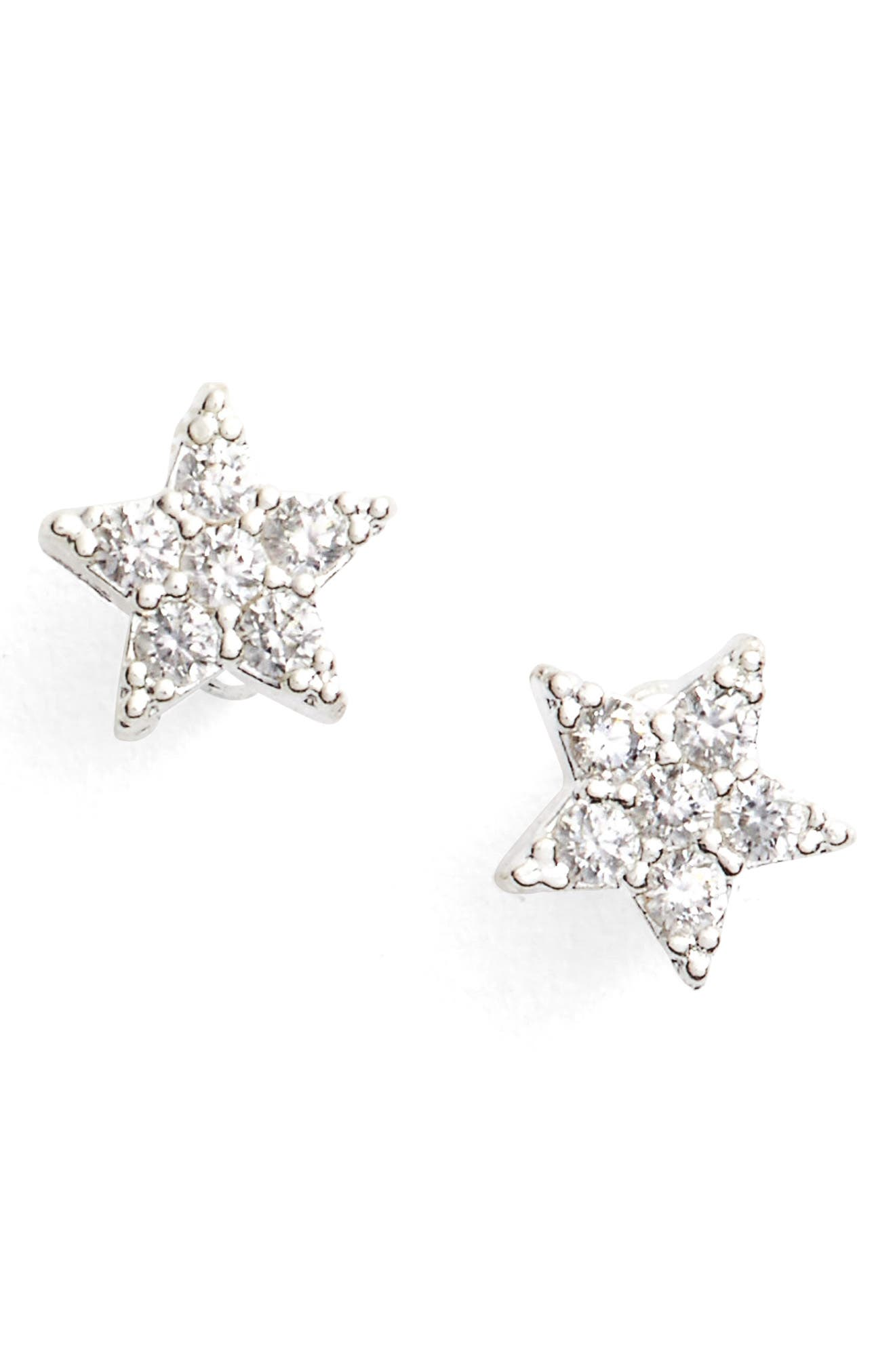 ESTELLA BARTLETT Shine Bright Star Stud Earrings in Silver