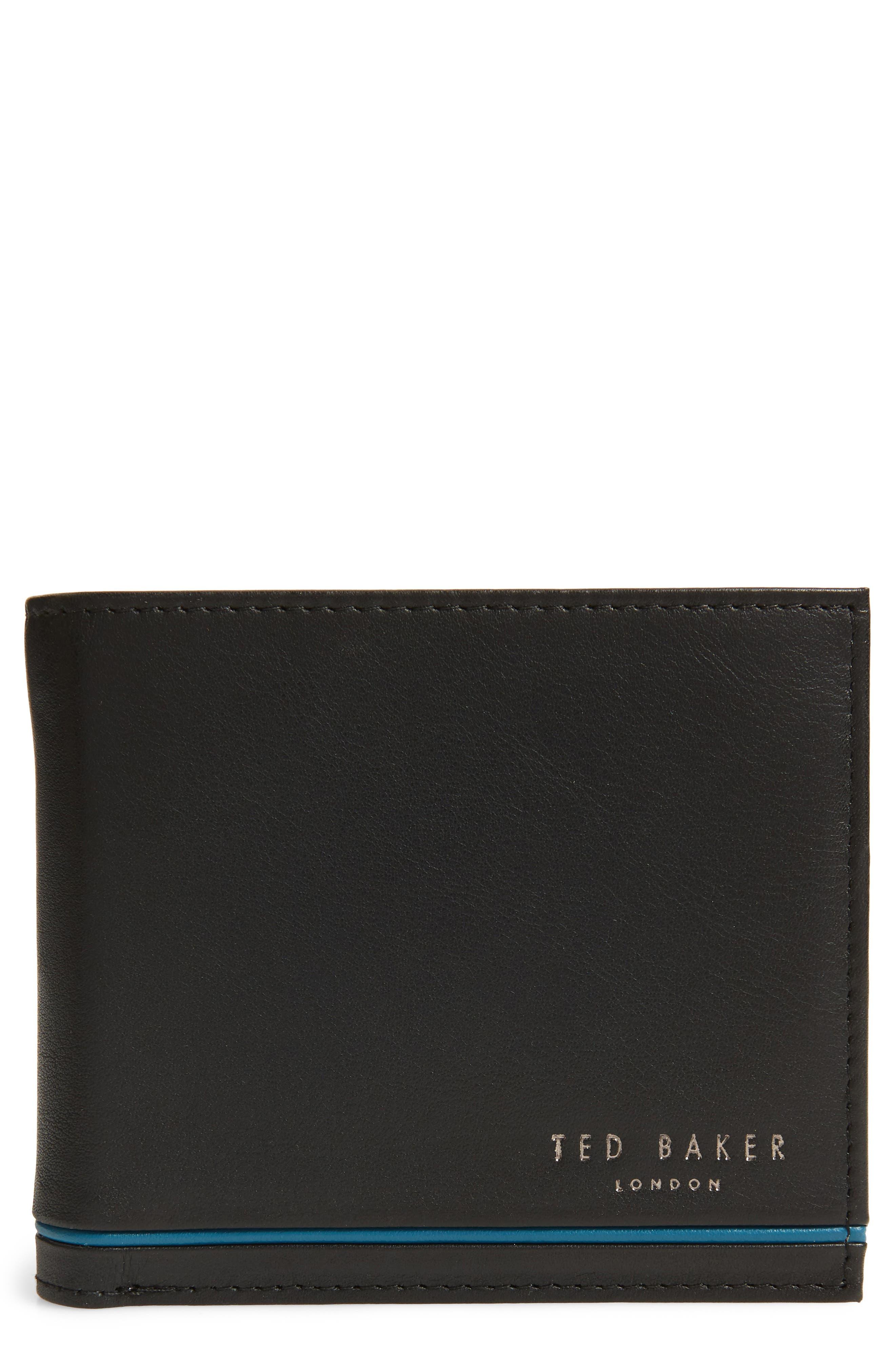 Dooree Leather Wallet,                         Main,                         color, BLACK