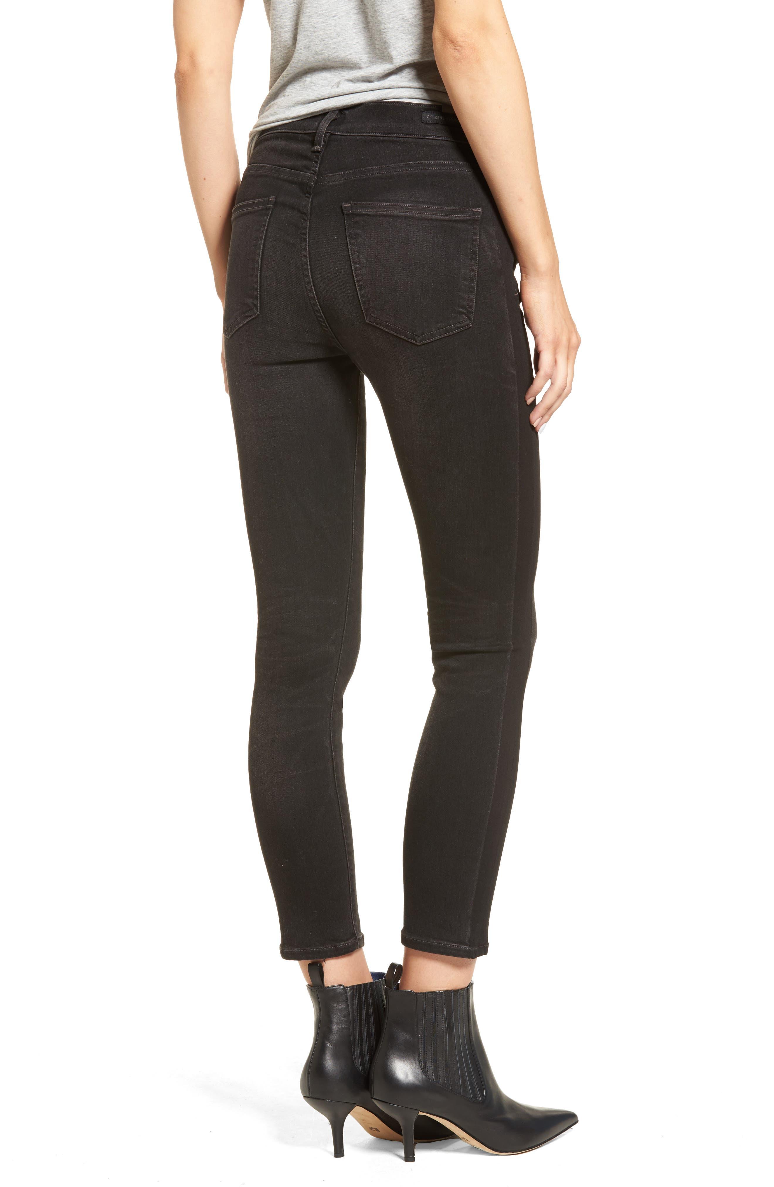 Rocket High Waist Crop Skinny Jeans,                             Alternate thumbnail 2, color,                             009