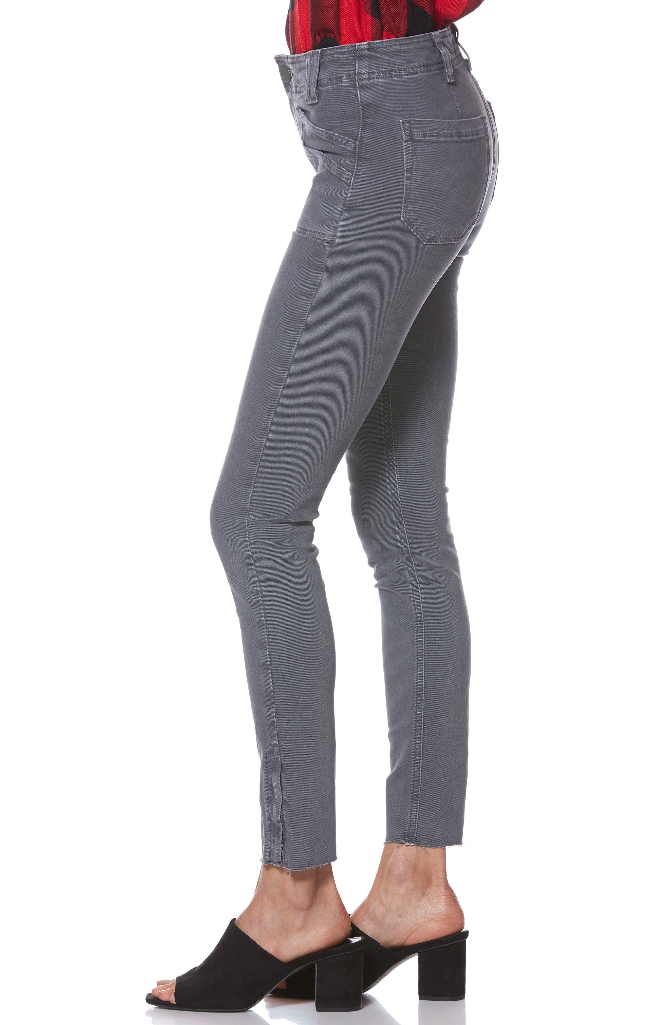 Hoxton Utilitarian High Waist Ankle Skinny Jeans,                             Alternate thumbnail 3, color,                             VINTAGE TORNADO
