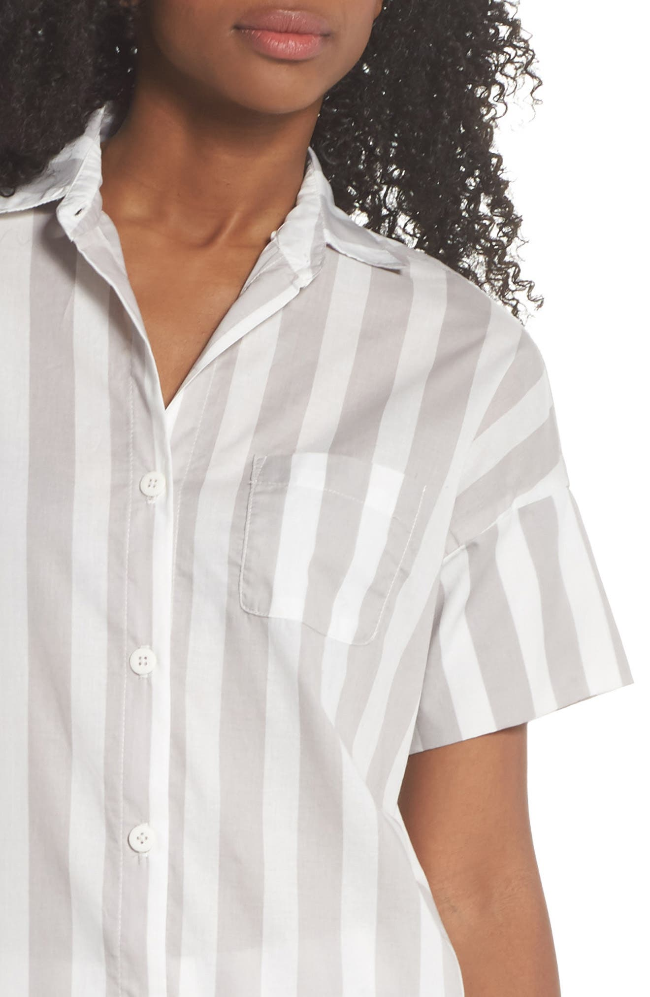 Gigi Stripe Pajama Top,                             Alternate thumbnail 4, color,                             020