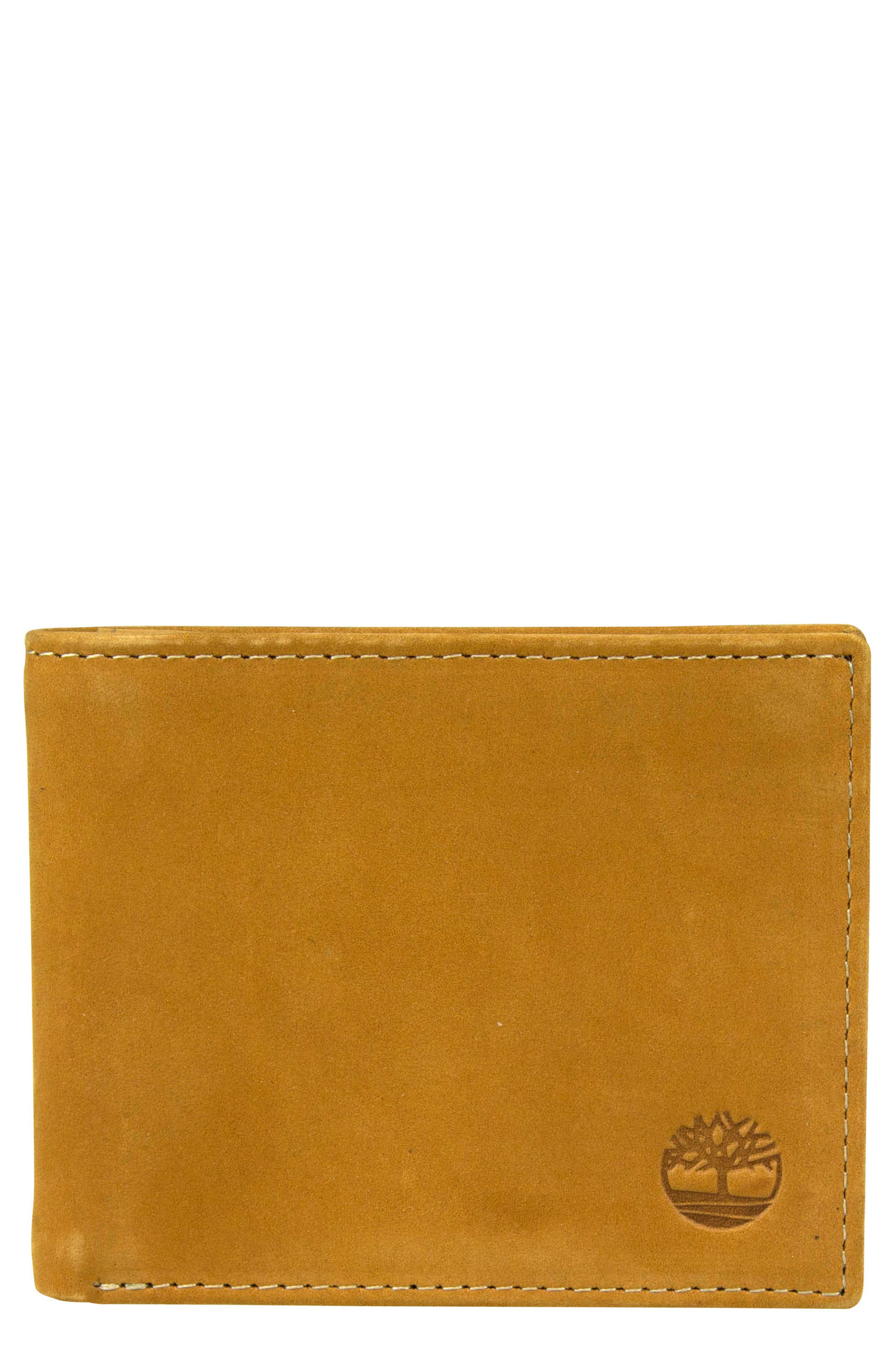 Icon Leather Wallet,                             Main thumbnail 1, color,                             WHEAT